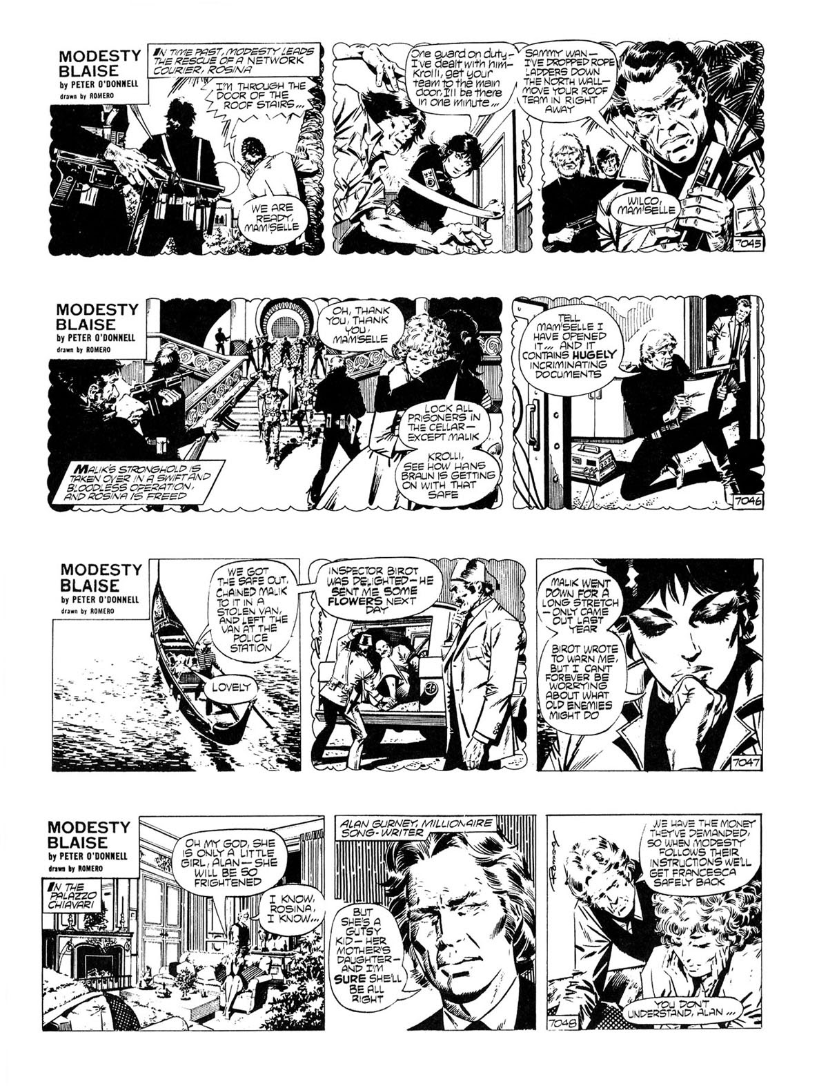 Read online Modesty Blaise Live bait comic -  Issue # TPB - 5