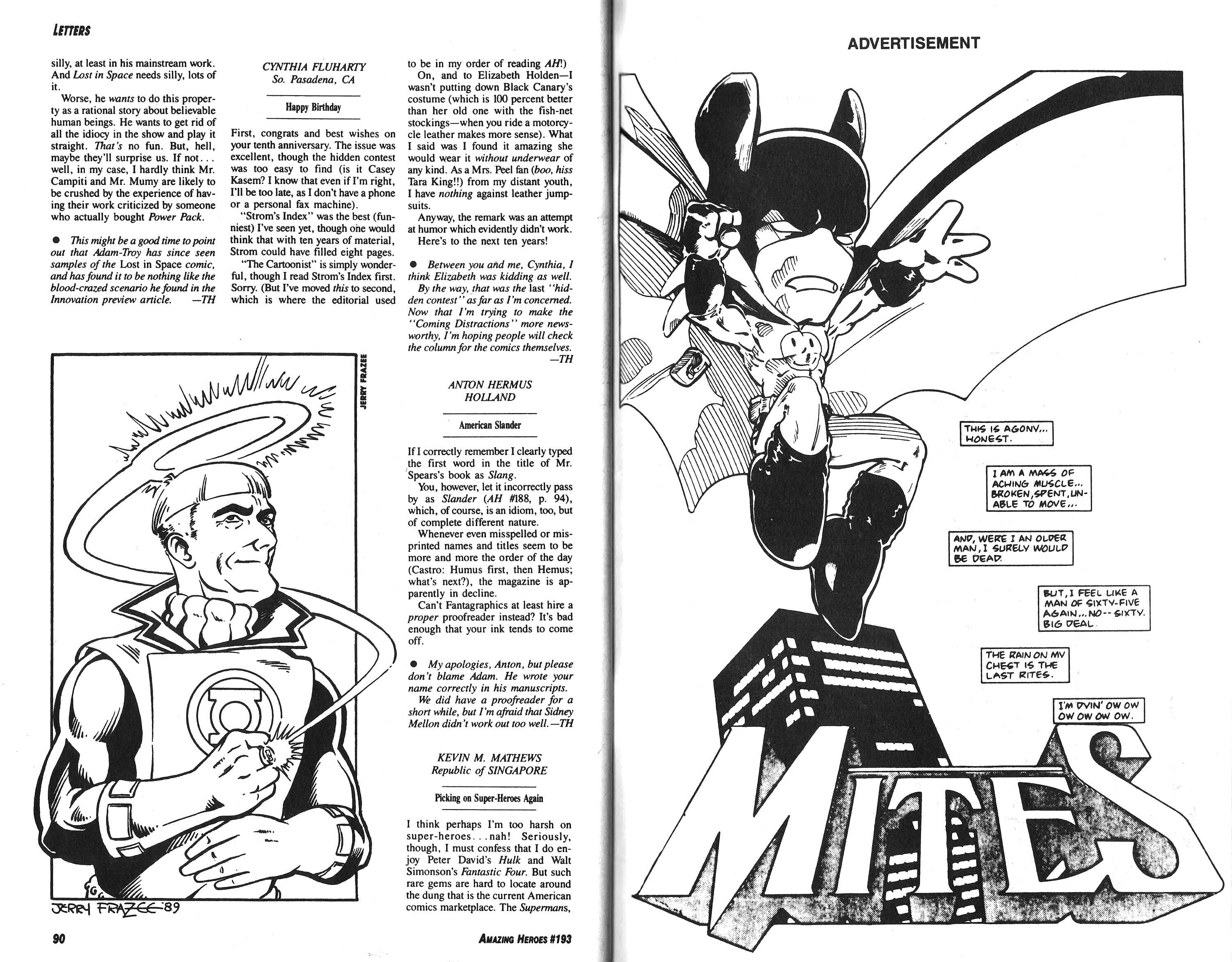 Read online Amazing Heroes comic -  Issue #193 - 46