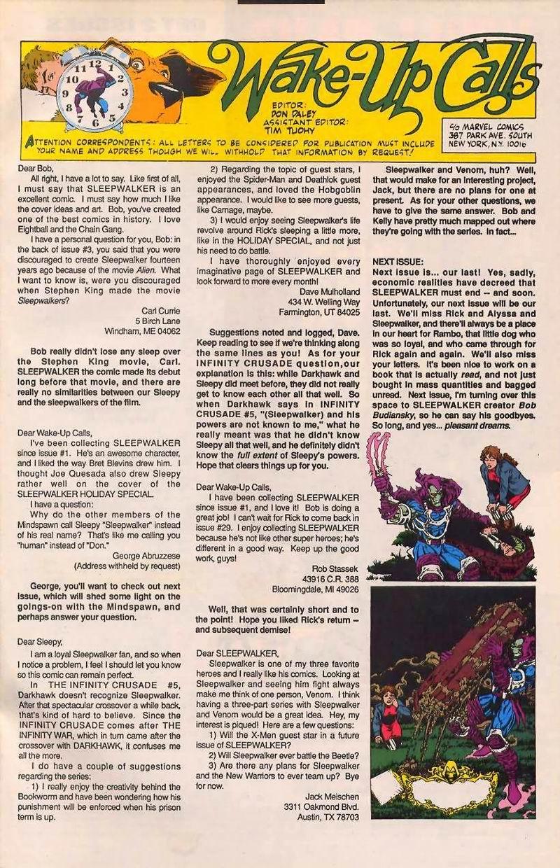 Read online Sleepwalker comic -  Issue #32 - 24