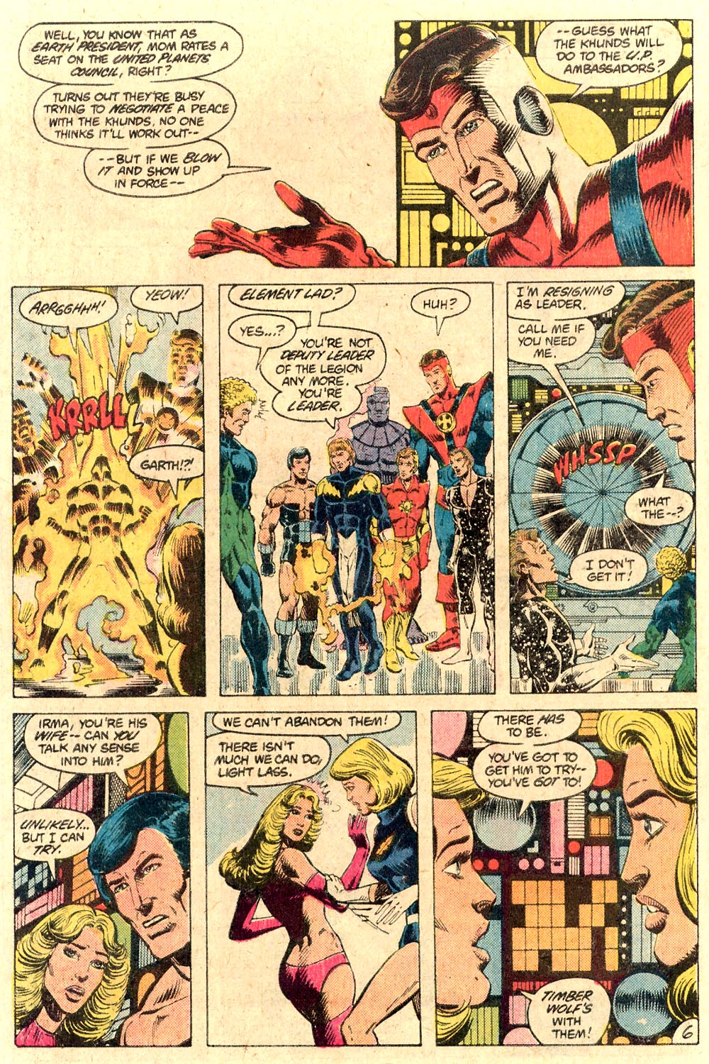 Legion of Super-Heroes (1980) 287 Page 6