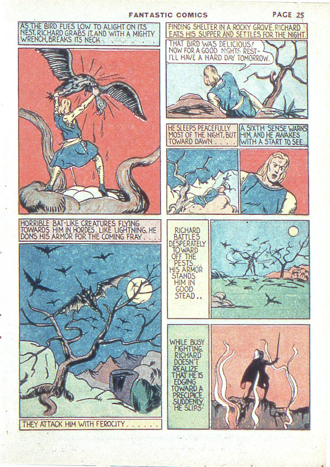 Read online Fantastic Comics comic -  Issue #3 - 28
