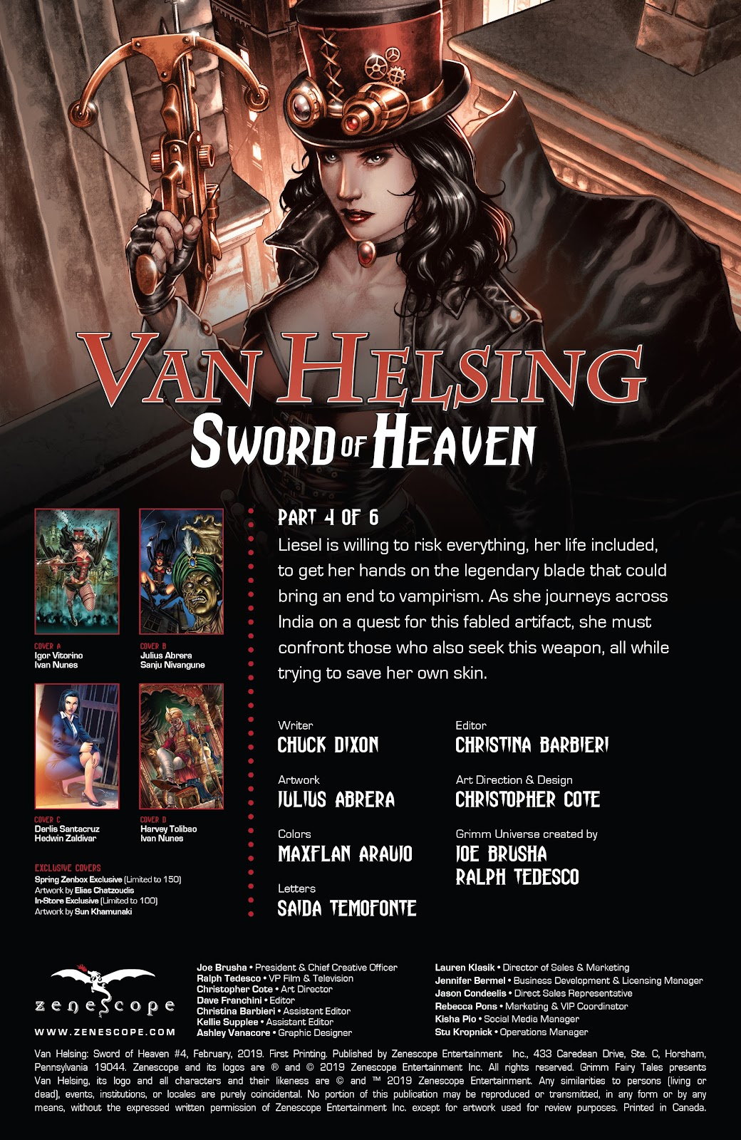 Read online Van Helsing: Sword of Heaven comic -  Issue #4 - 2