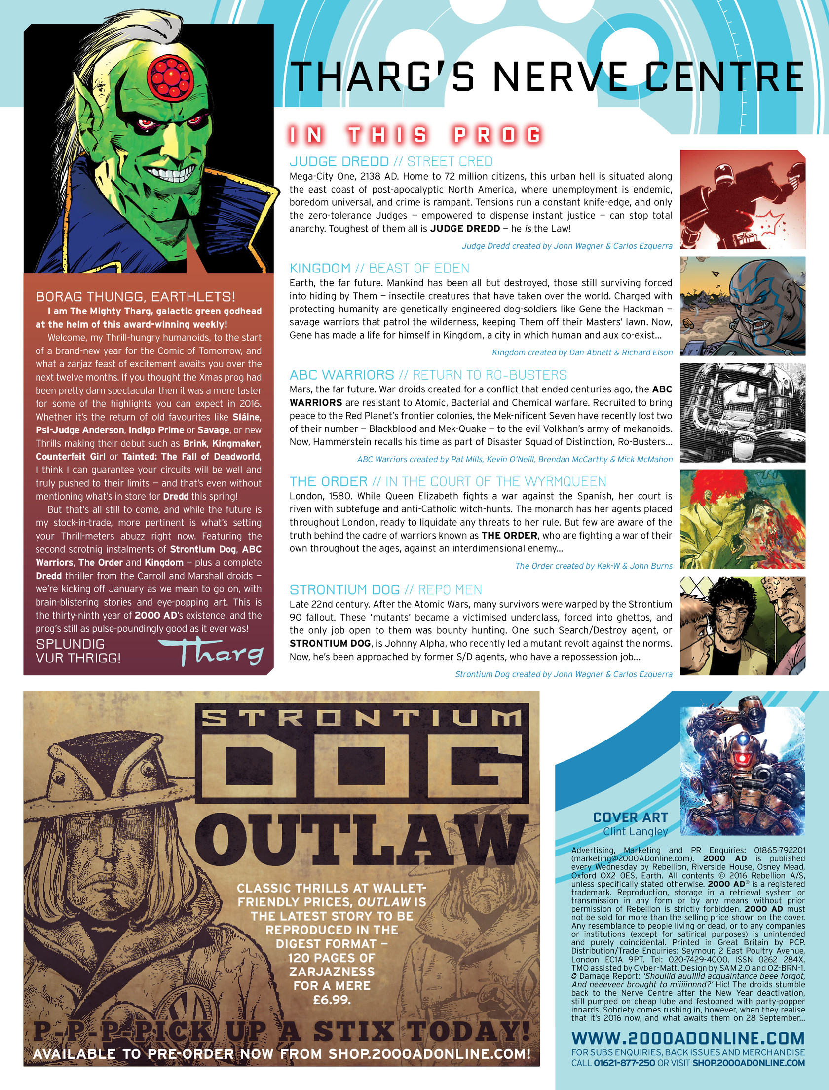Read online 2000 AD comic -  Issue #1962 - 2