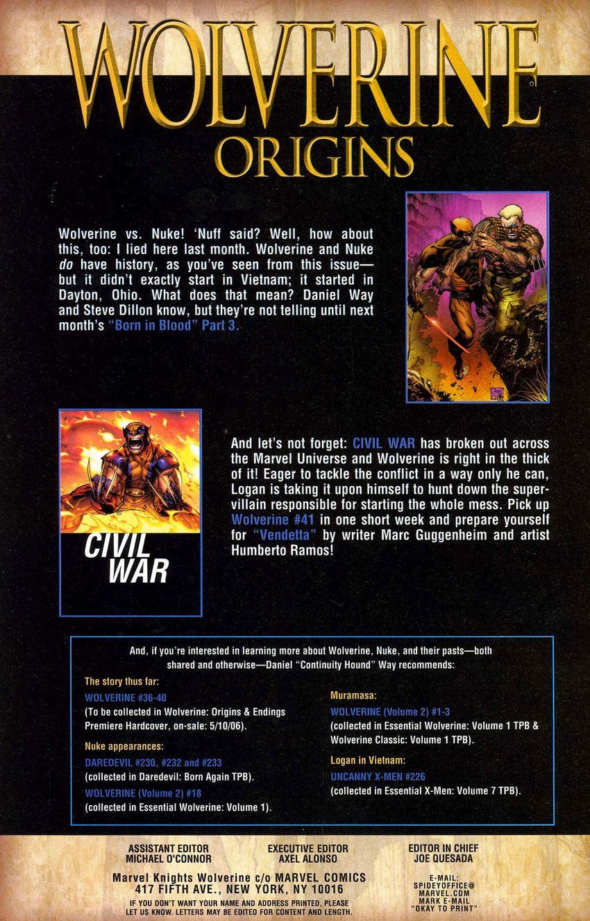 Read online Wolverine: Origins comic -  Issue #2 - 25