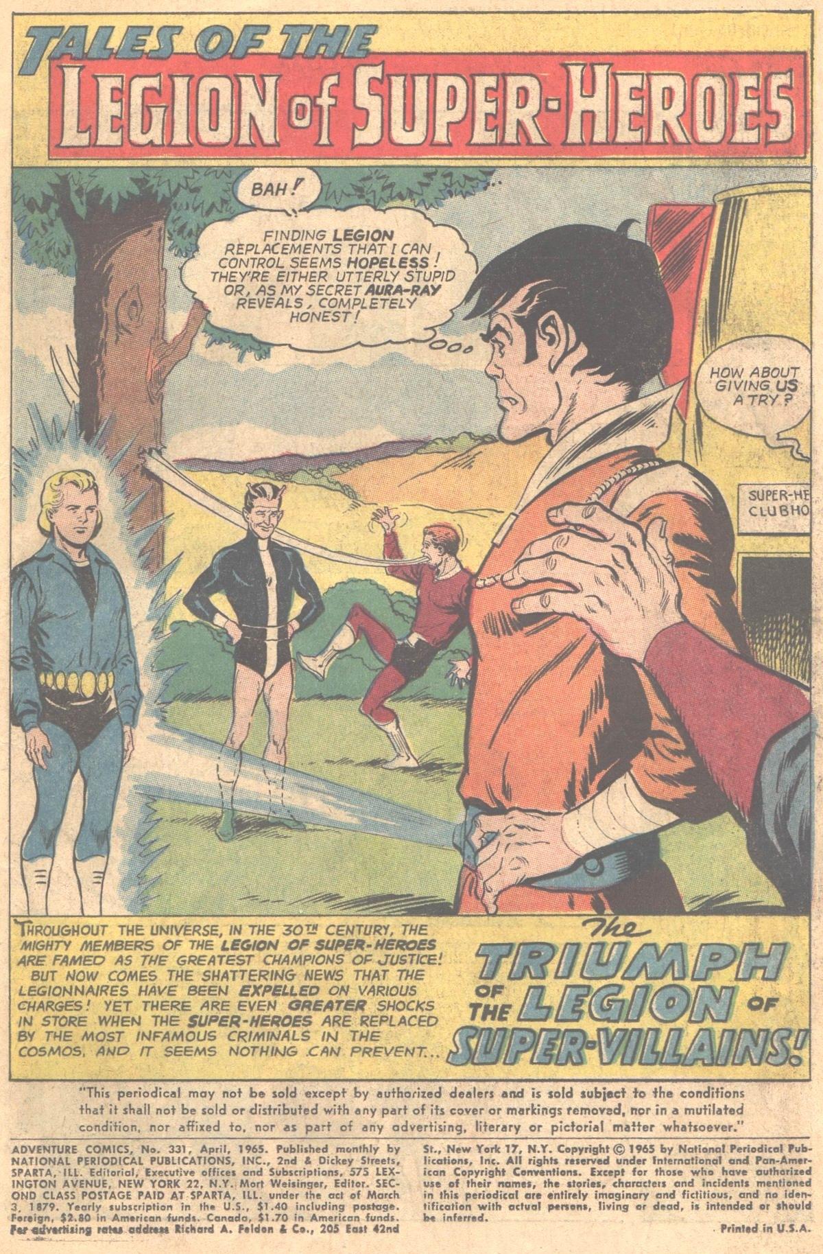 Read online Adventure Comics (1938) comic -  Issue #331 - 2