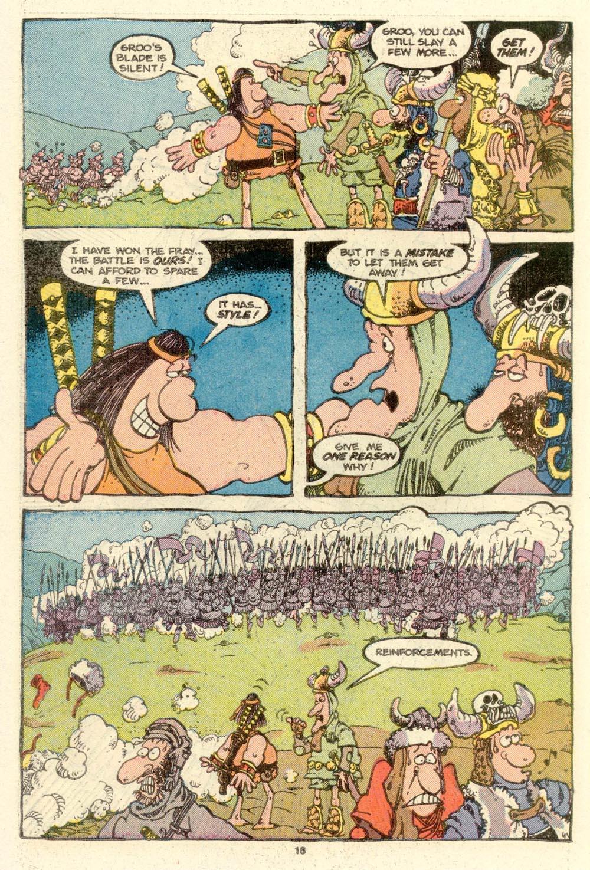Read online Sergio Aragonés Groo the Wanderer comic -  Issue #16 - 18