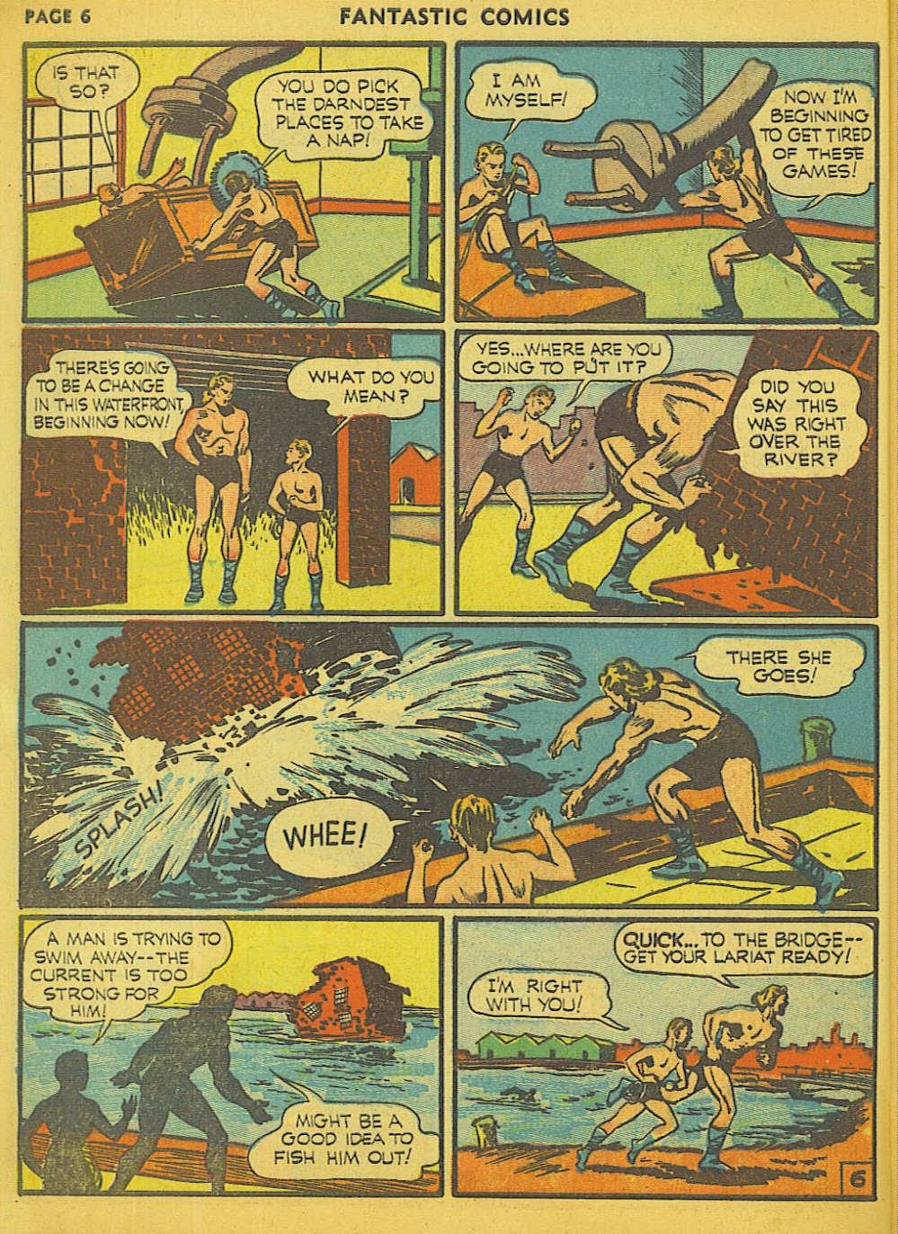 Read online Fantastic Comics comic -  Issue #15 - 55