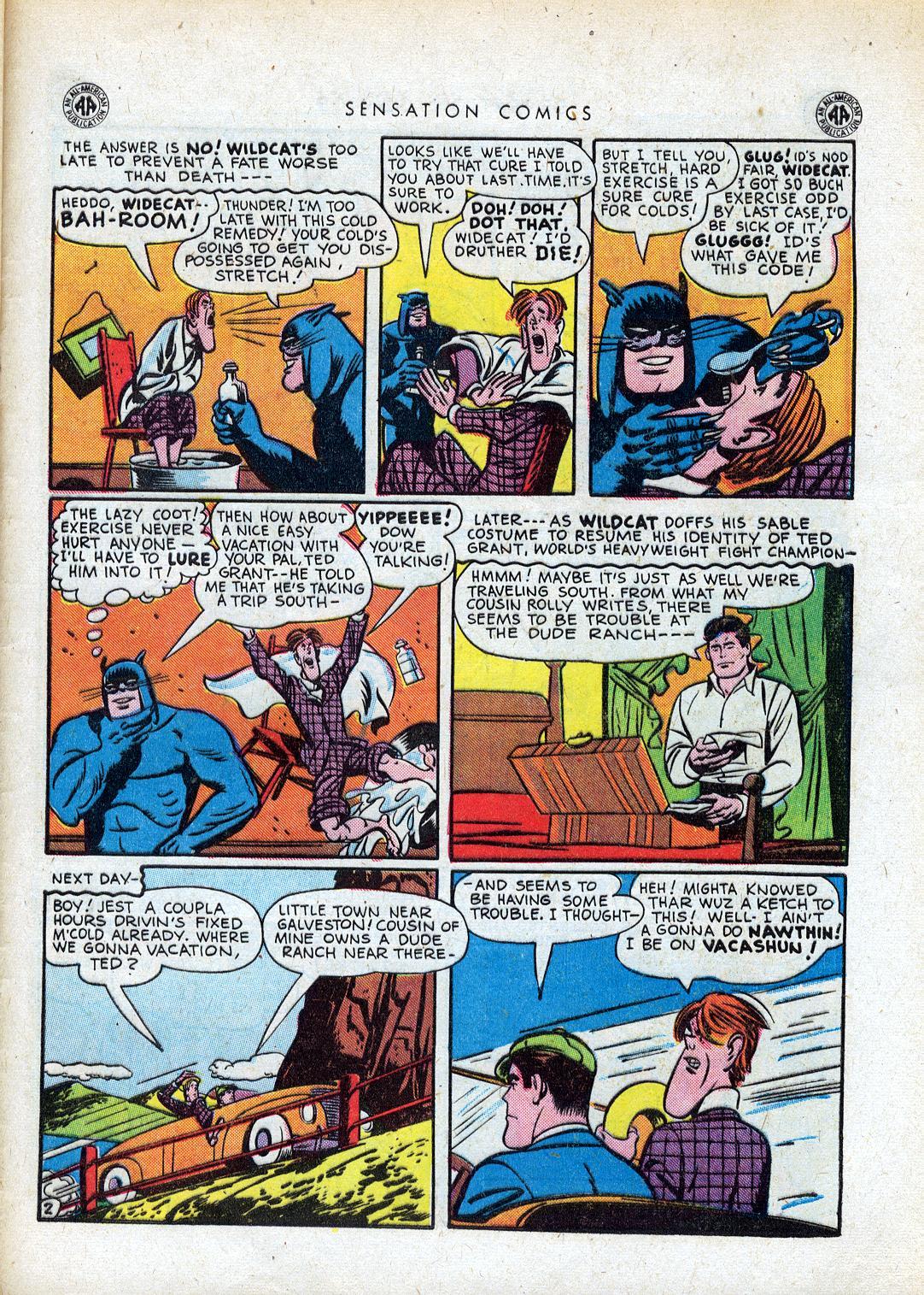 Read online Sensation (Mystery) Comics comic -  Issue #41 - 43