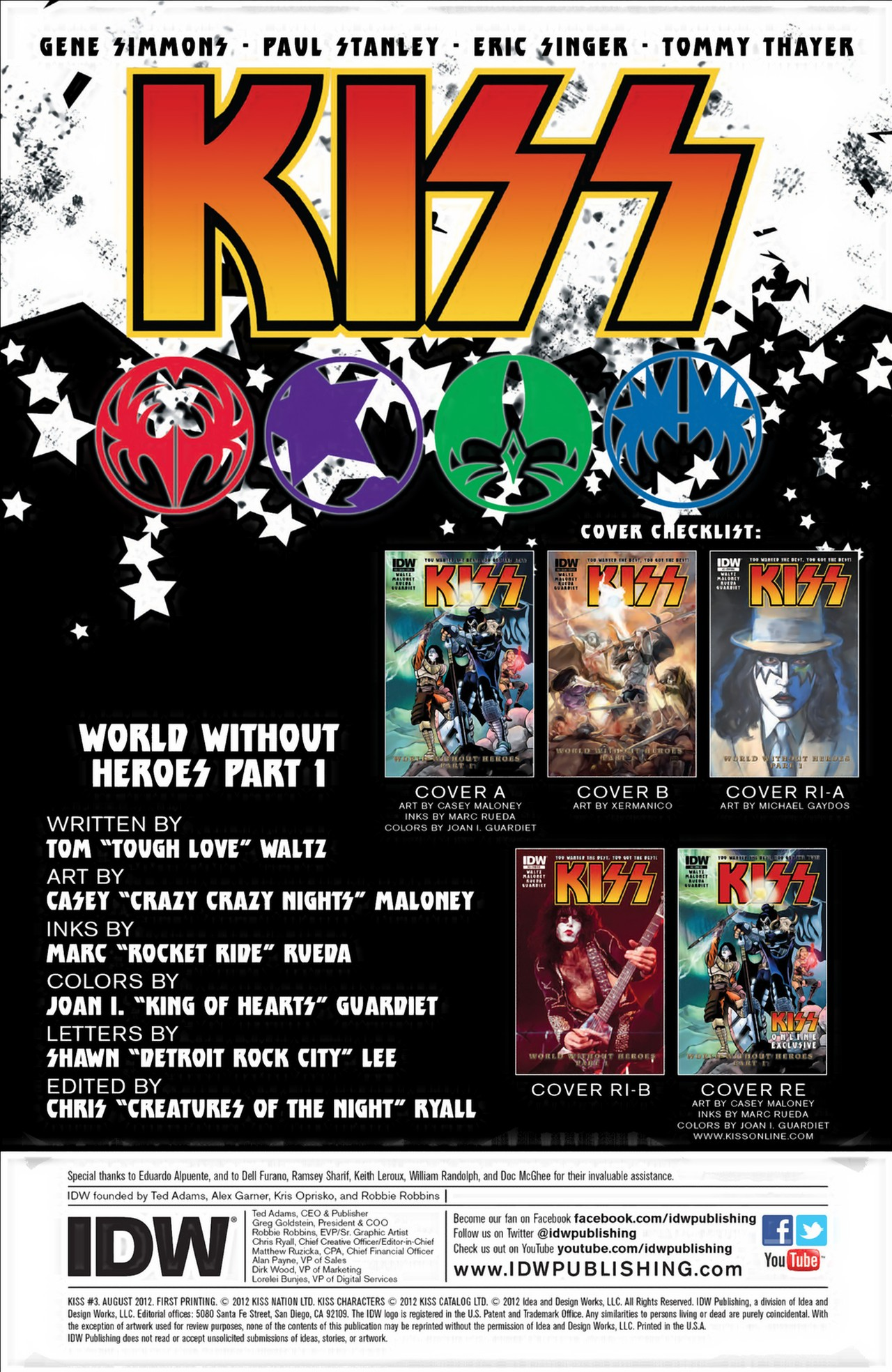 Read online KISS (2012) comic -  Issue #3 - 3