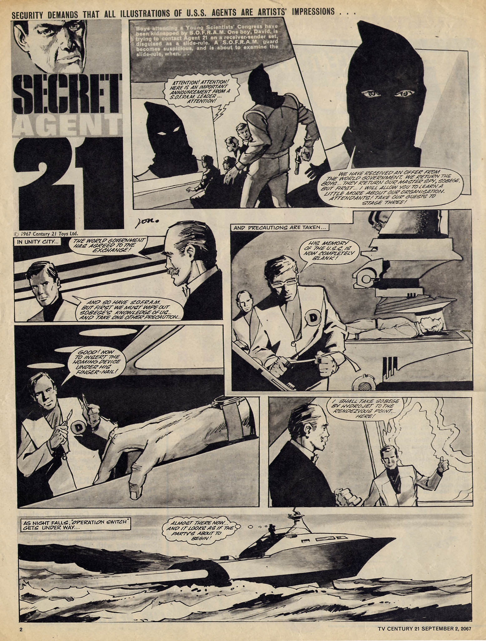 Read online TV Century 21 (TV 21) comic -  Issue #137 - 2