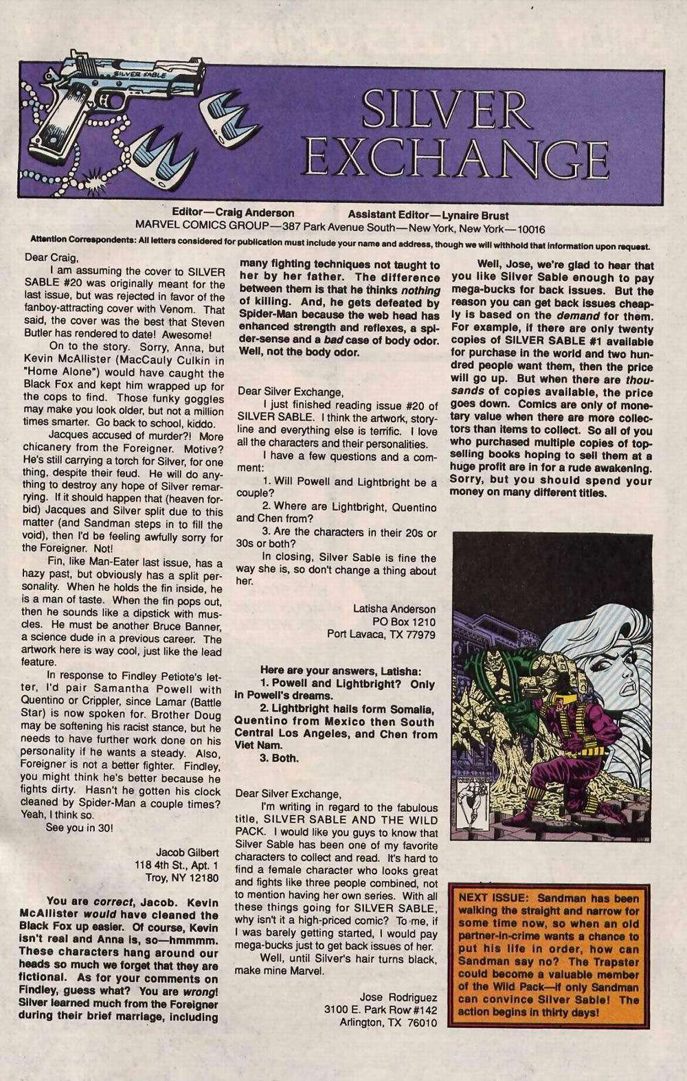 Read online Silver Sable and the Wild Pack comic -  Issue #25 - 40
