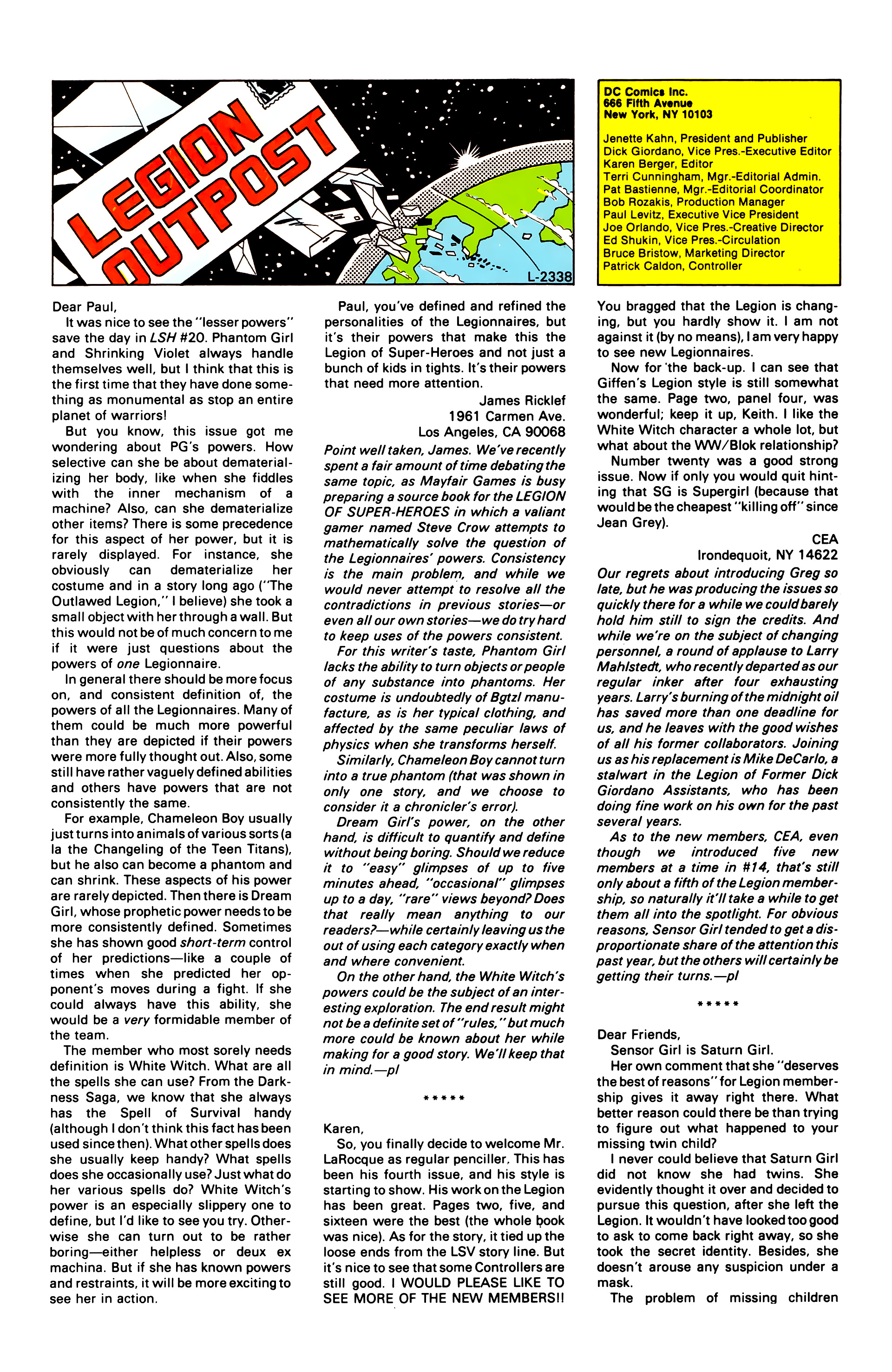 Legion of Super-Heroes (1984) 25 Page 30