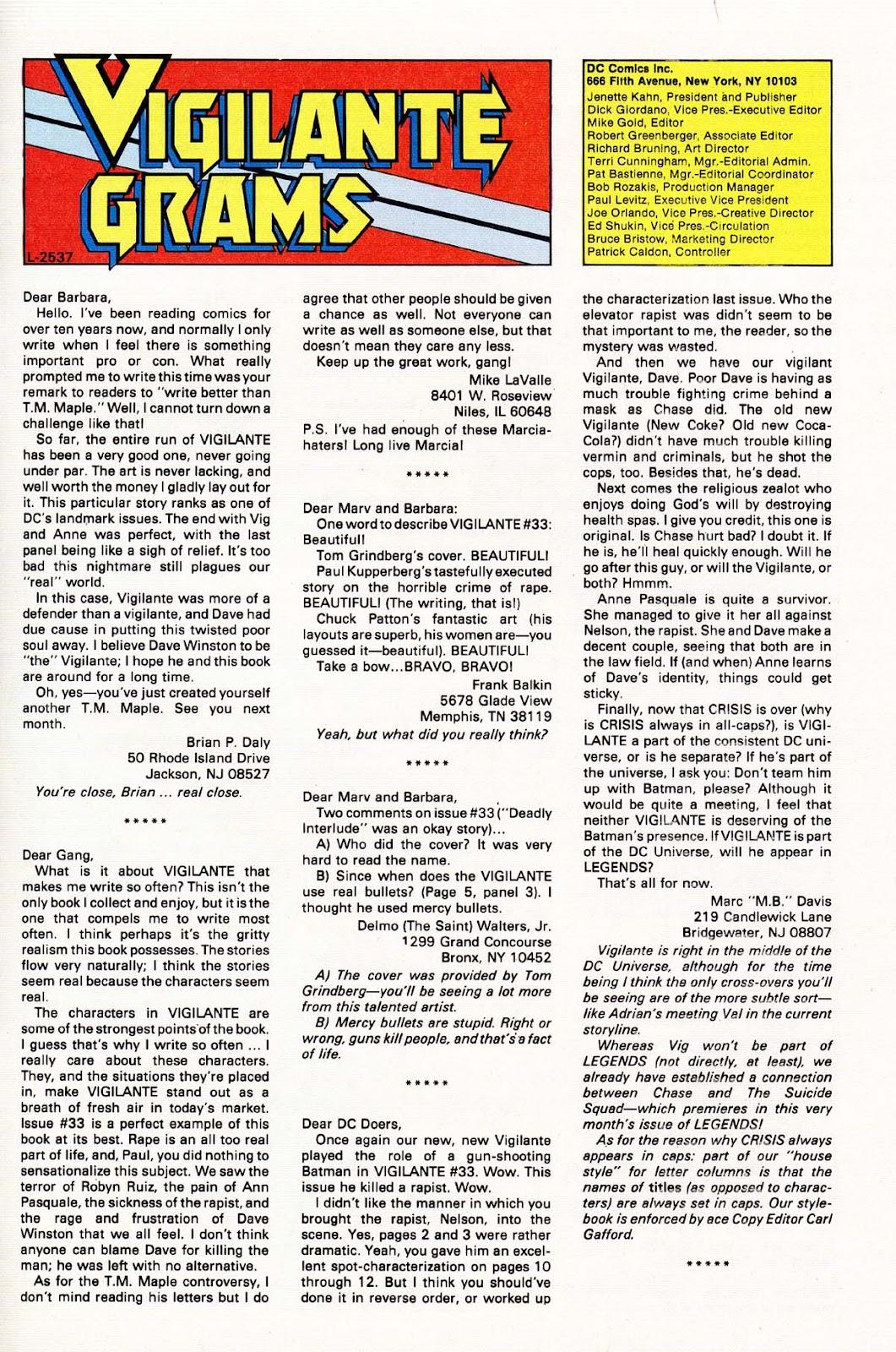 Vigilante (1983) issue 37 - Page 31