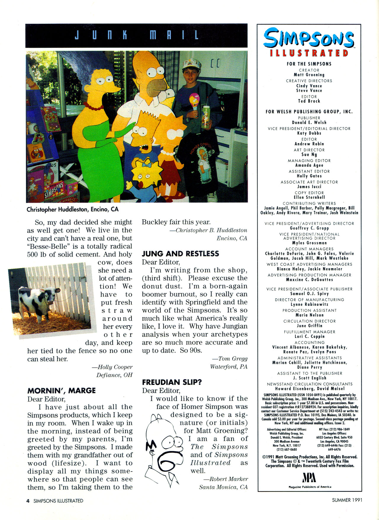 Read online Simpsons Illustrated (1991) comic -  Issue #2 - 6