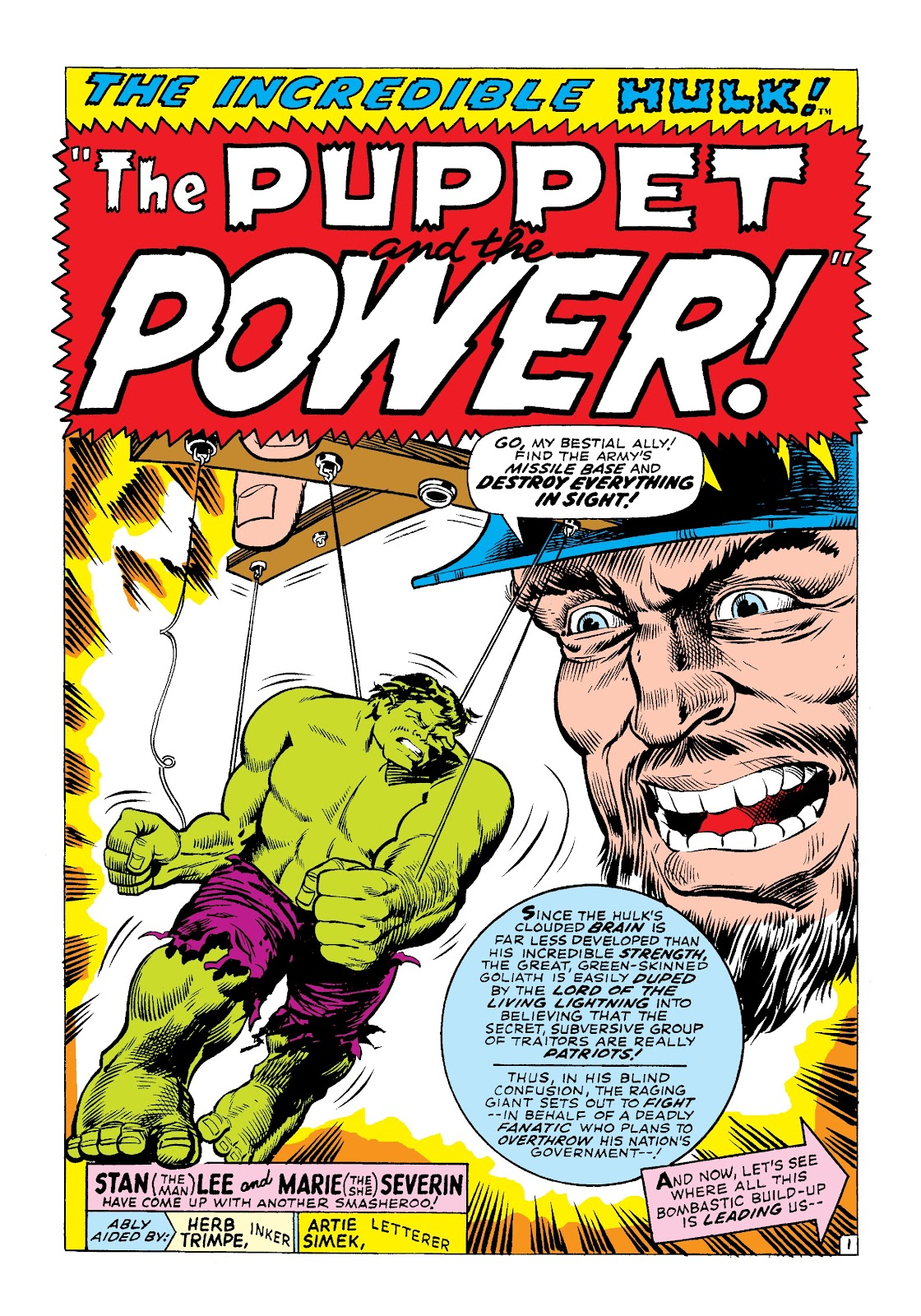 Read online Marvel Masterworks: The Incredible Hulk comic -  Issue # TPB 3 (Part 3) - 6