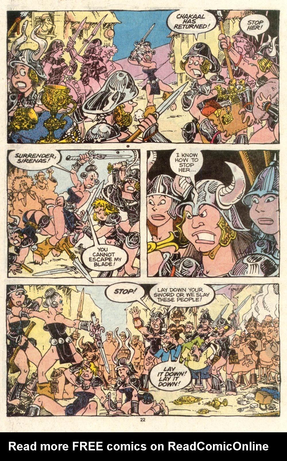 Read online Sergio Aragonés Groo the Wanderer comic -  Issue #50 - 22