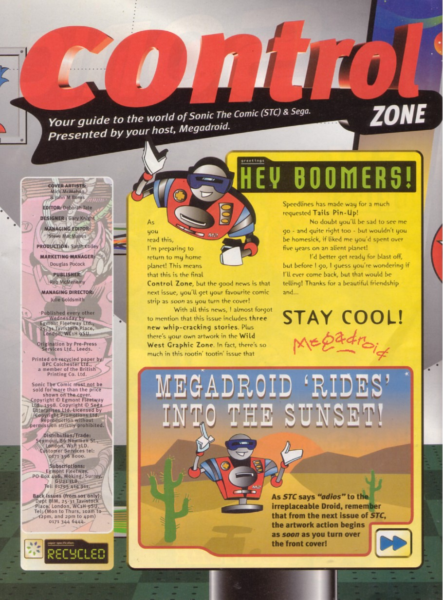 Read online Sonic the Comic comic -  Issue #140 - 2