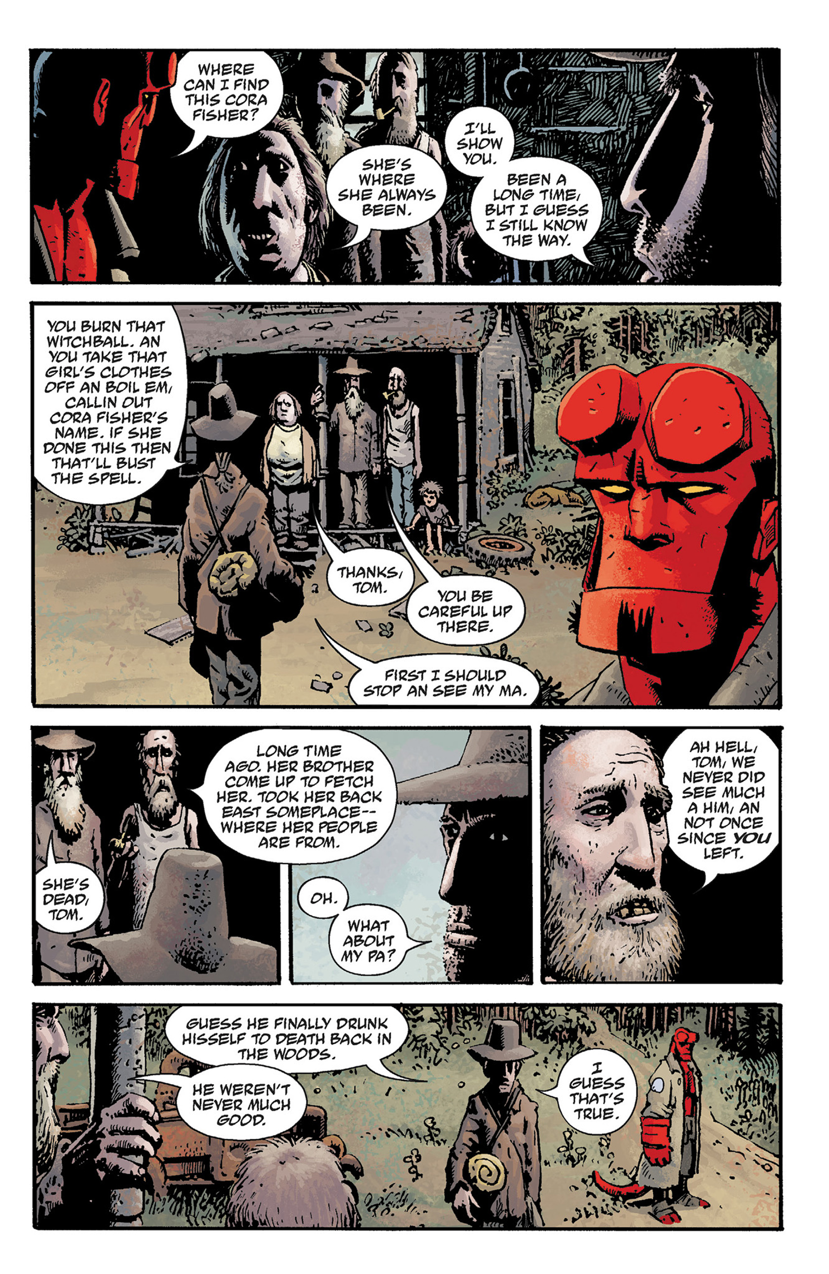 Read online Hellboy: The Crooked Man and Others comic -  Issue # TPB - 13