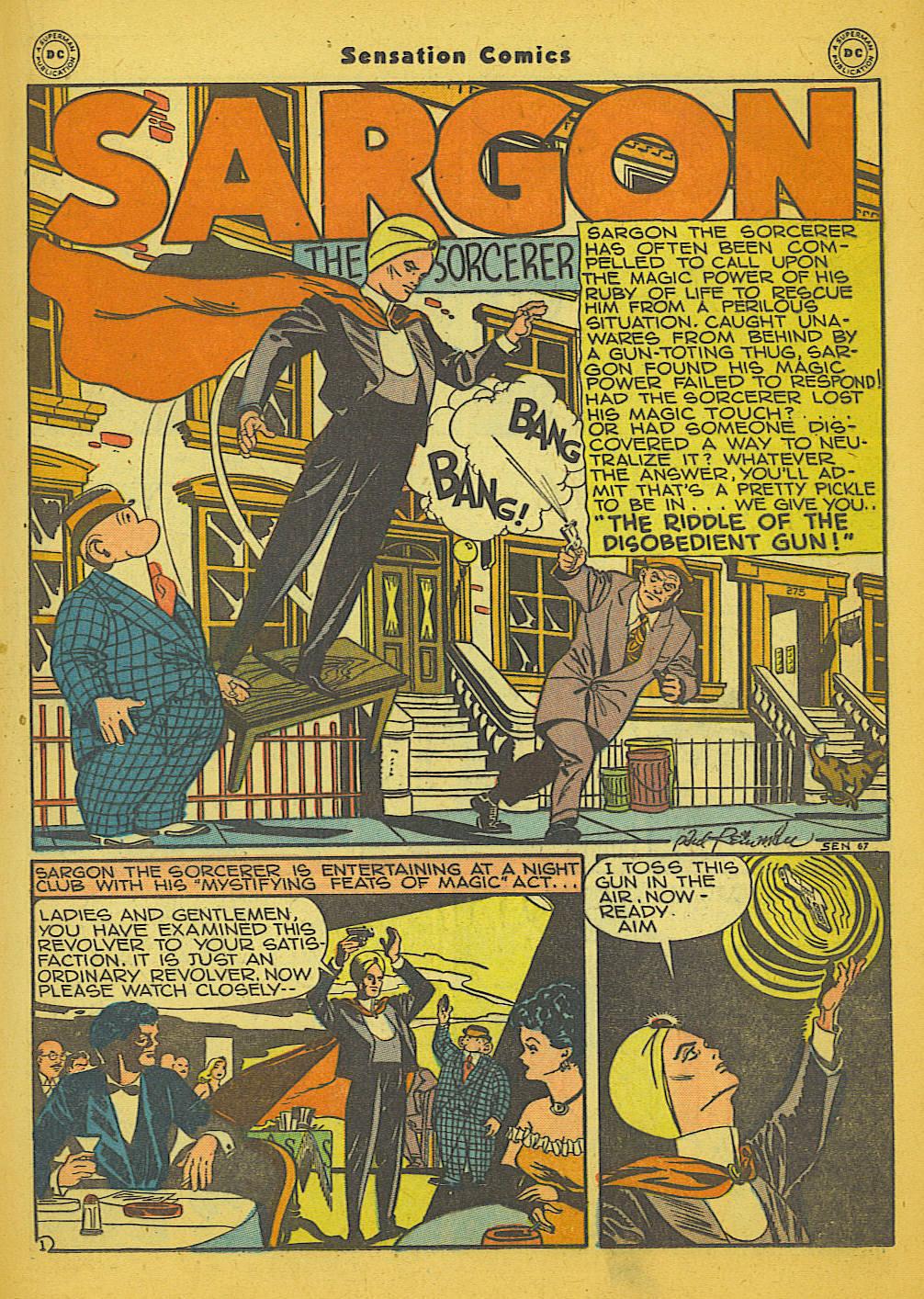 Read online Sensation (Mystery) Comics comic -  Issue #66 - 25
