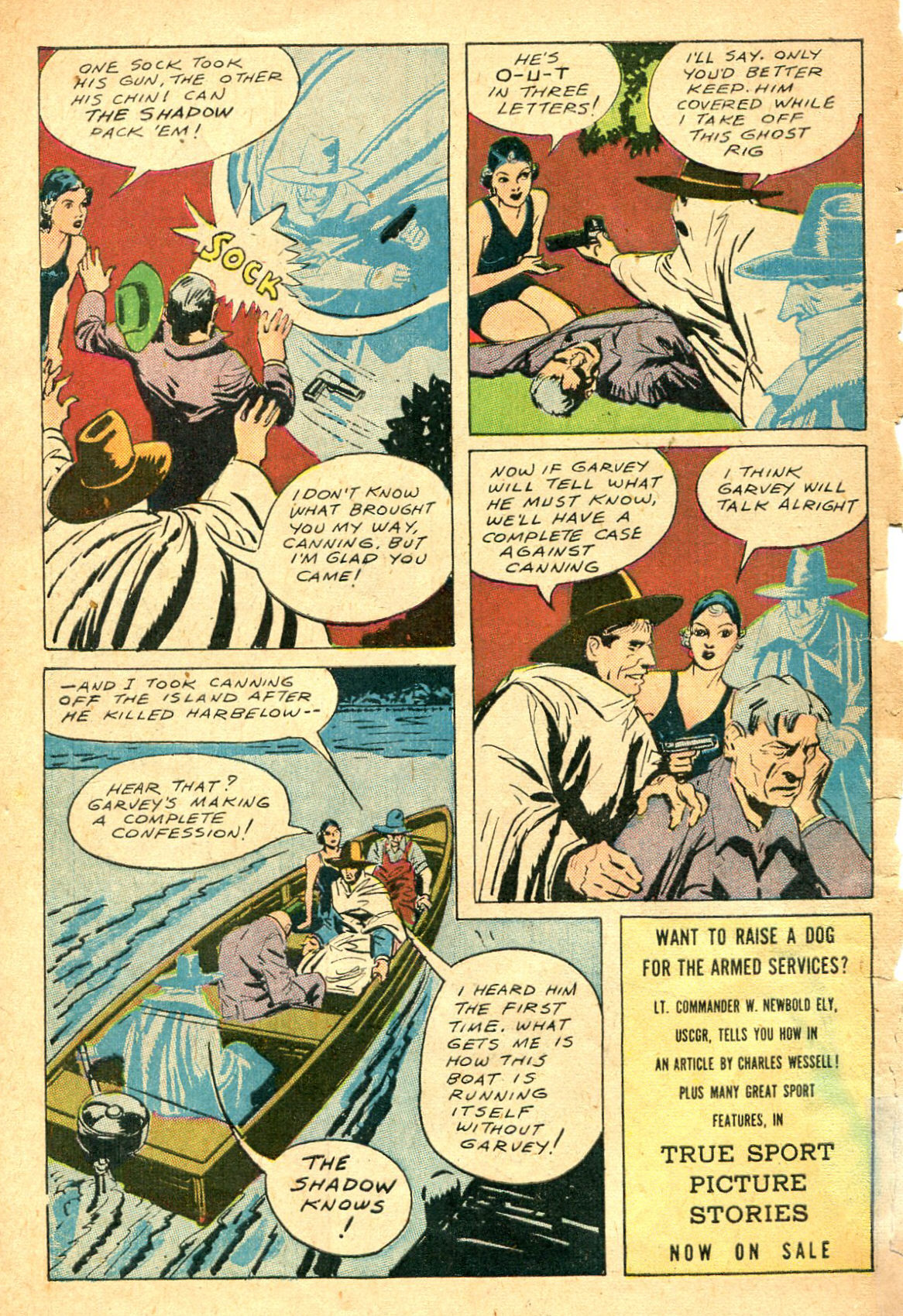 Read online Shadow Comics comic -  Issue #47 - 51
