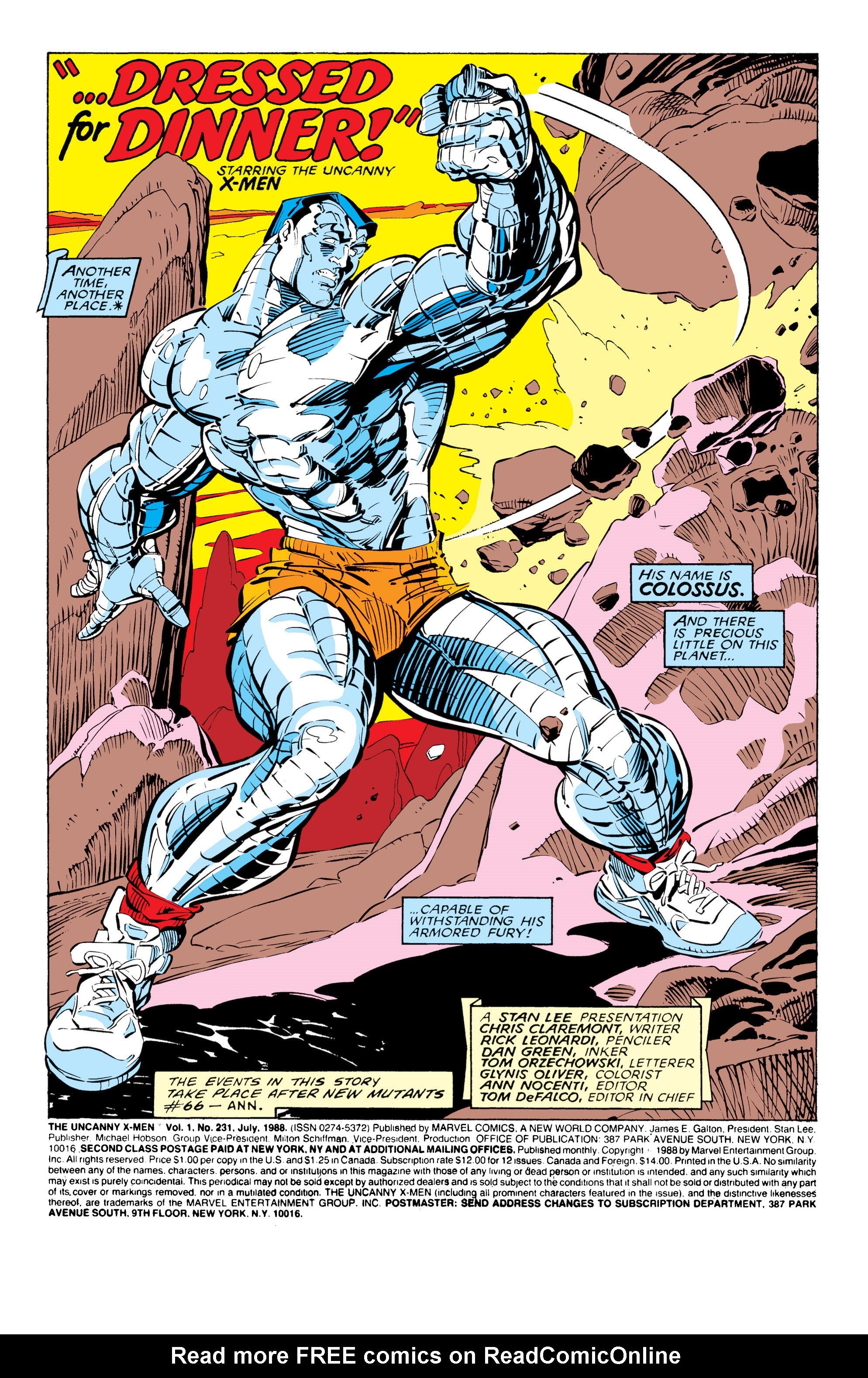 Read online Uncanny X-Men (1963) comic -  Issue #231 - 3