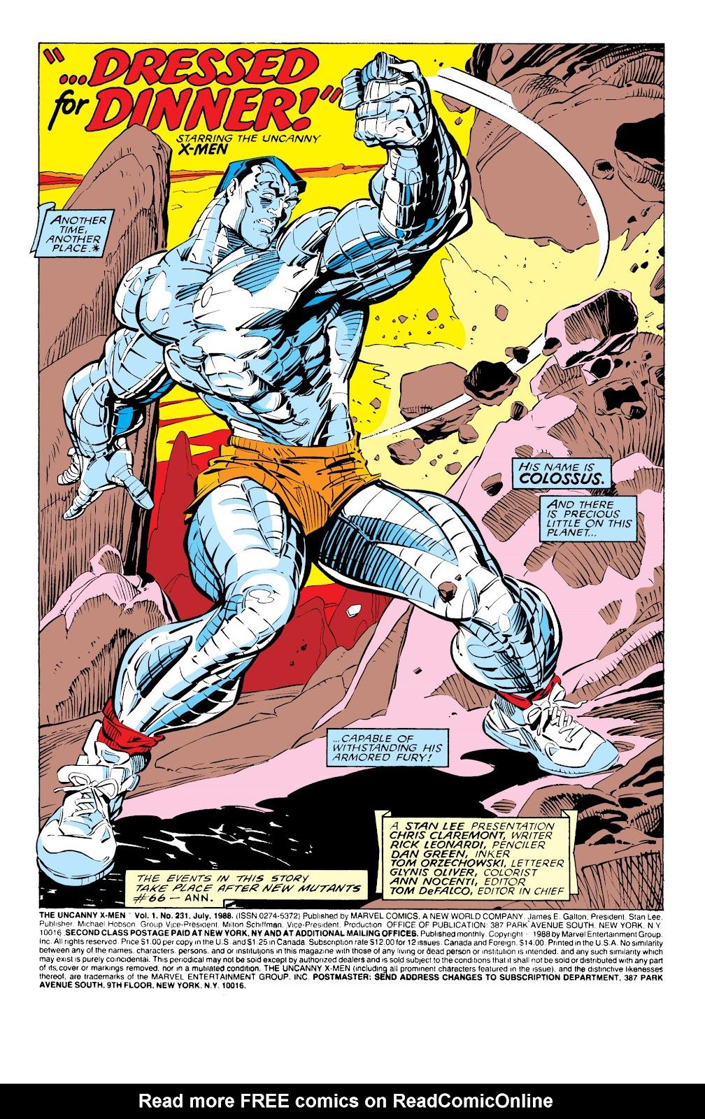 Uncanny X-Men (1963) issue 231 - Page 3
