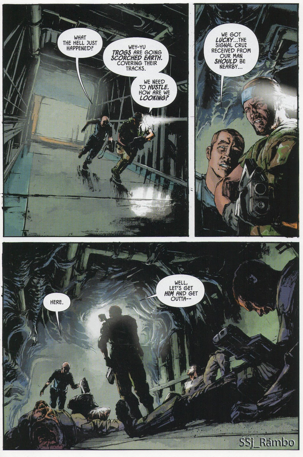 Read online Aliens: Colonial Marines - No Man Left Behind comic -  Issue # Full - 4