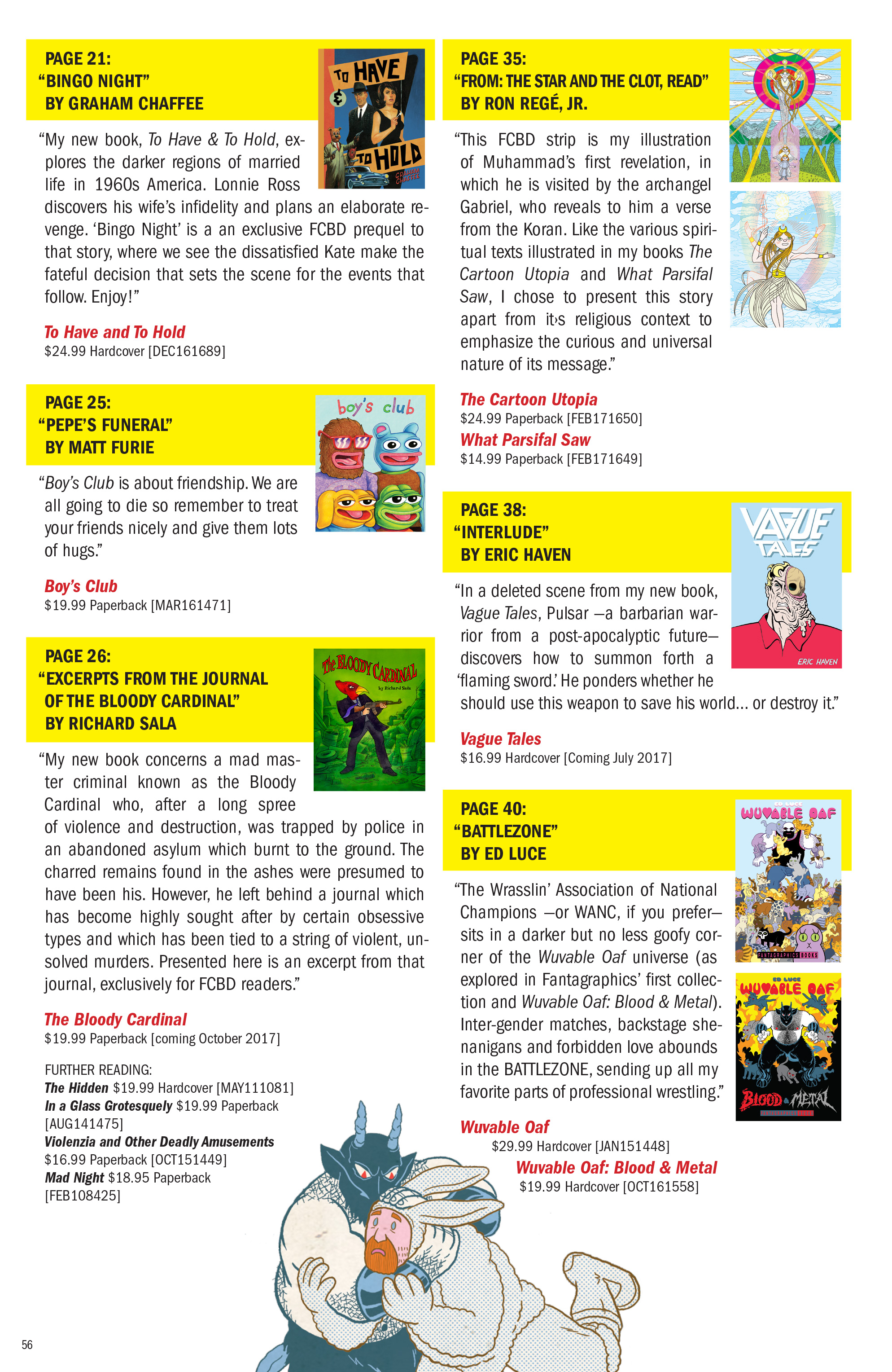 Read online Free Comic Book Day 2017 comic -  Issue # World's Greatest Cartoonists - 57