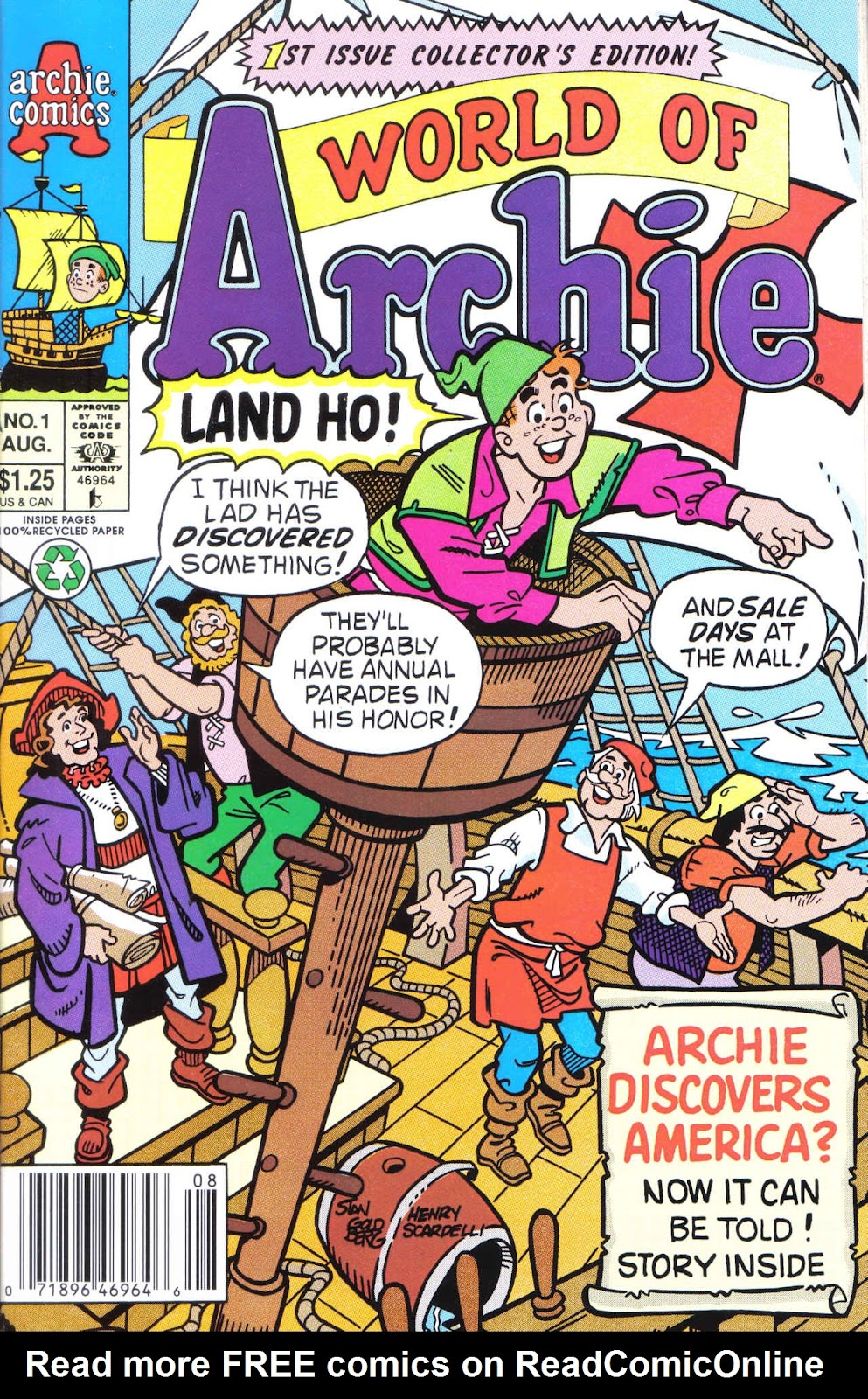 World of Archie (1992) issue 1 - Page 1
