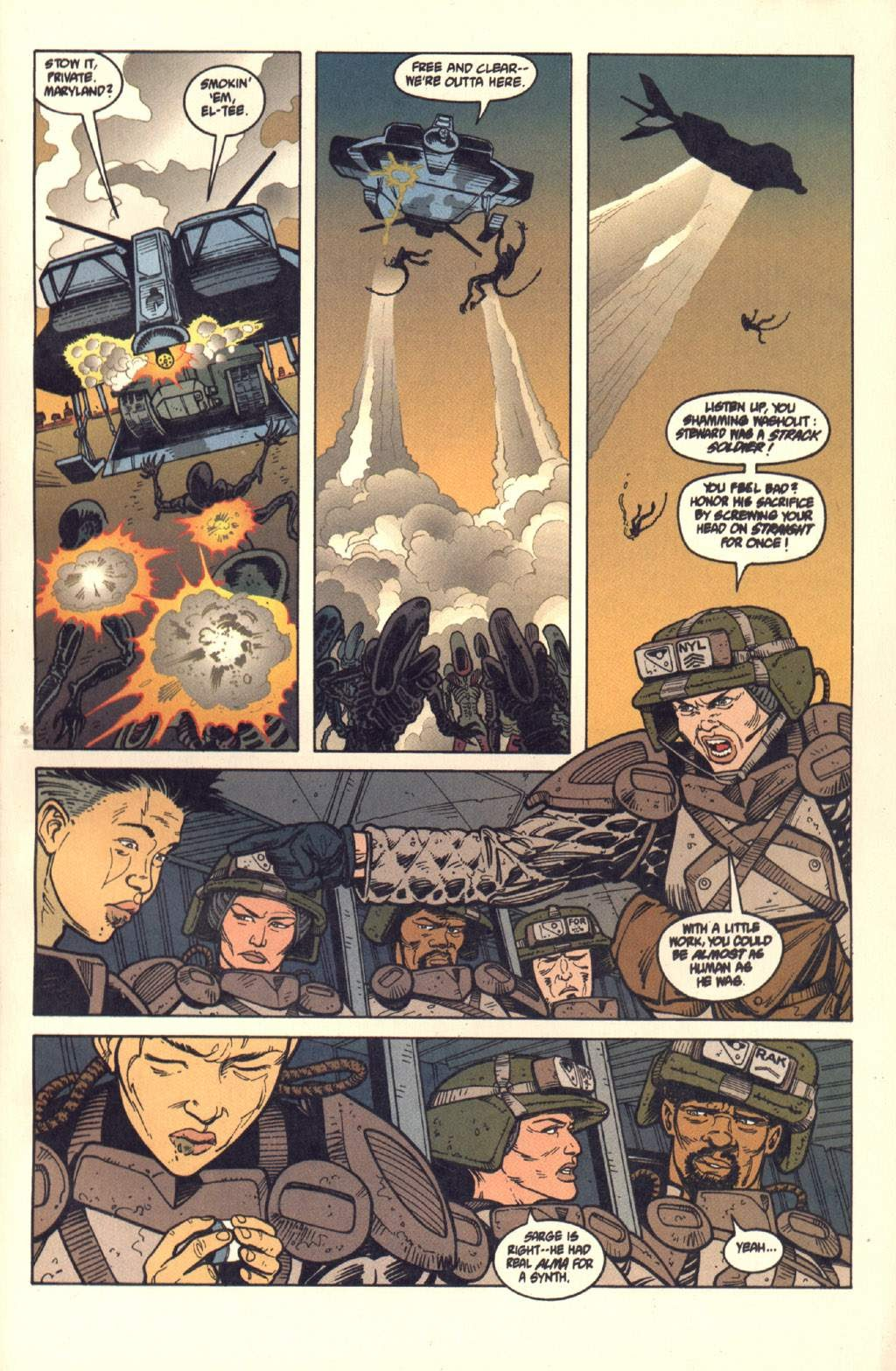 Read online Aliens: Colonial Marines comic -  Issue #7 - 24