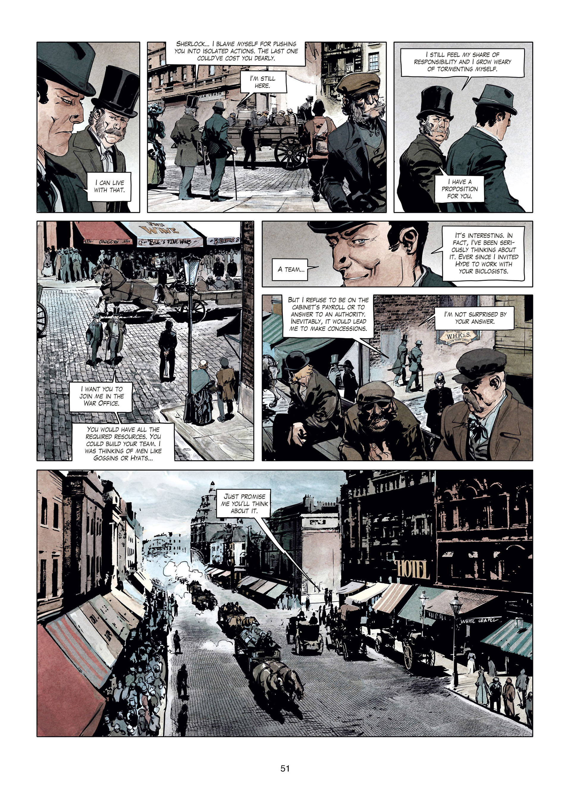 Read online Sherlock Holmes Society Tome 4 : Contamination comic -  Issue # Full - 51