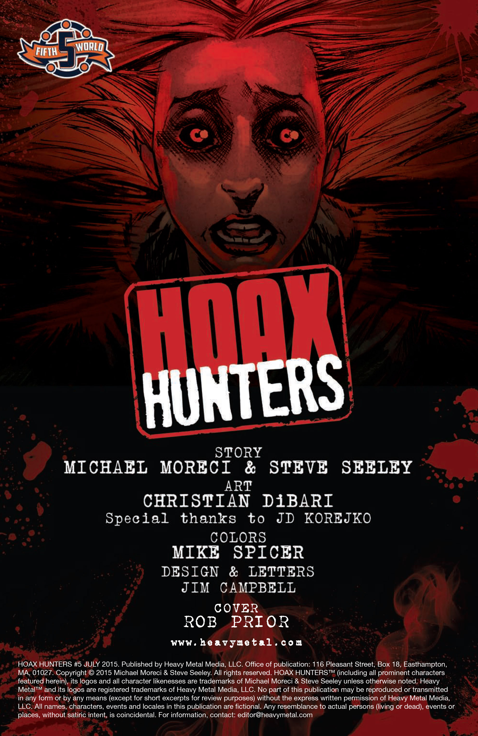 Read online Hoax Hunters (2015) comic -  Issue #5 - 2