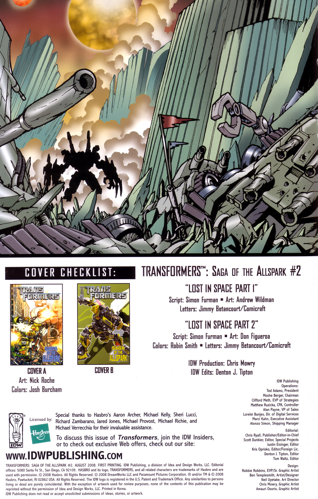 Read online Transformers: Saga of the Allspark comic -  Issue #2 - 3