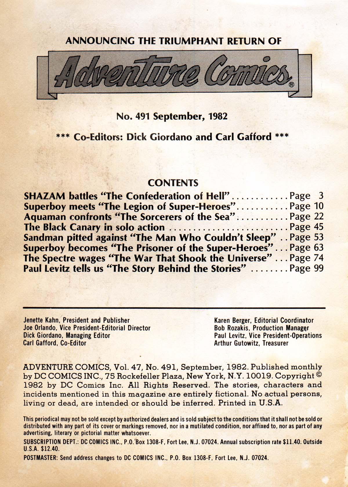 Read online Adventure Comics (1938) comic -  Issue #491 - 2