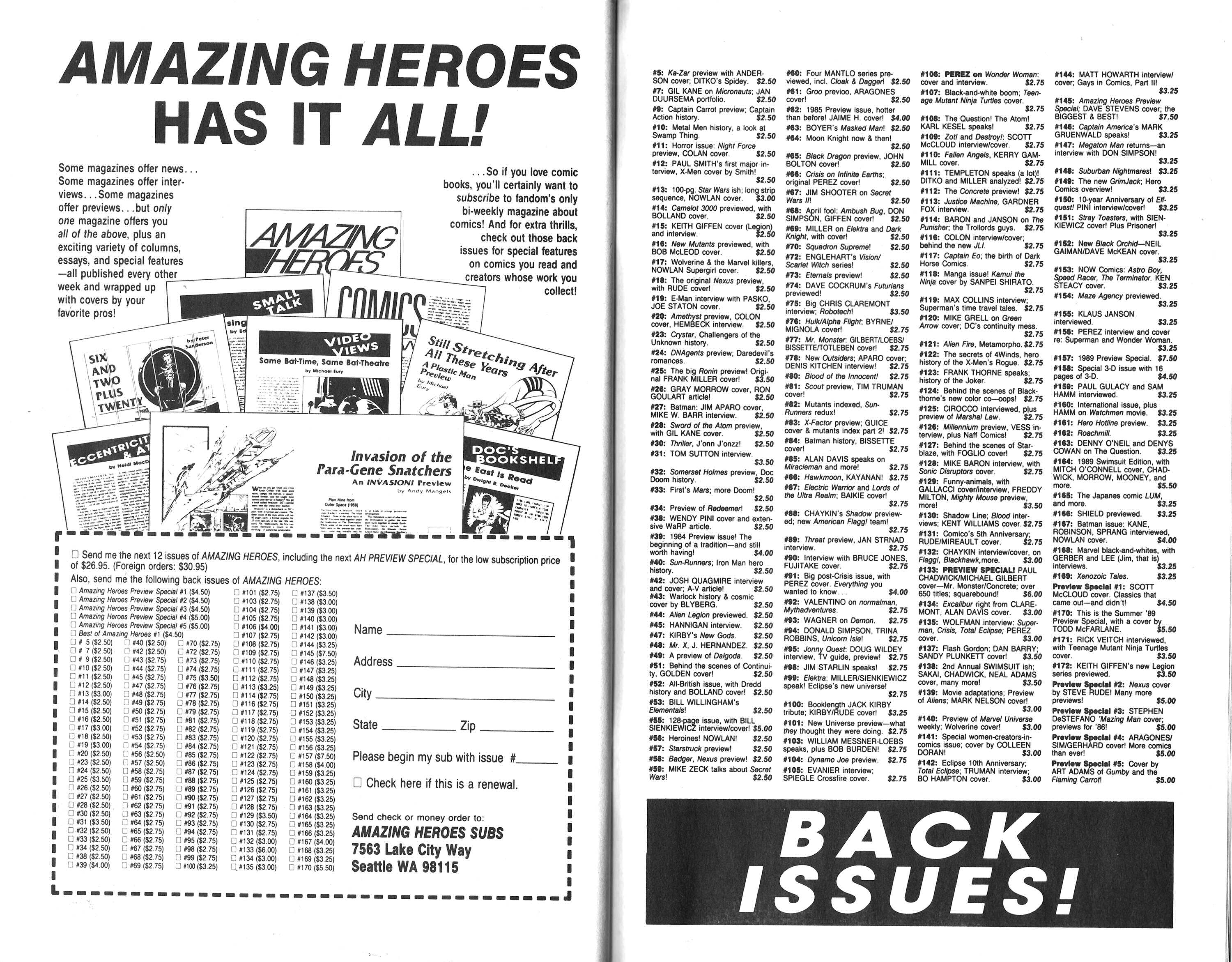 Read online Amazing Heroes comic -  Issue #177 - 46