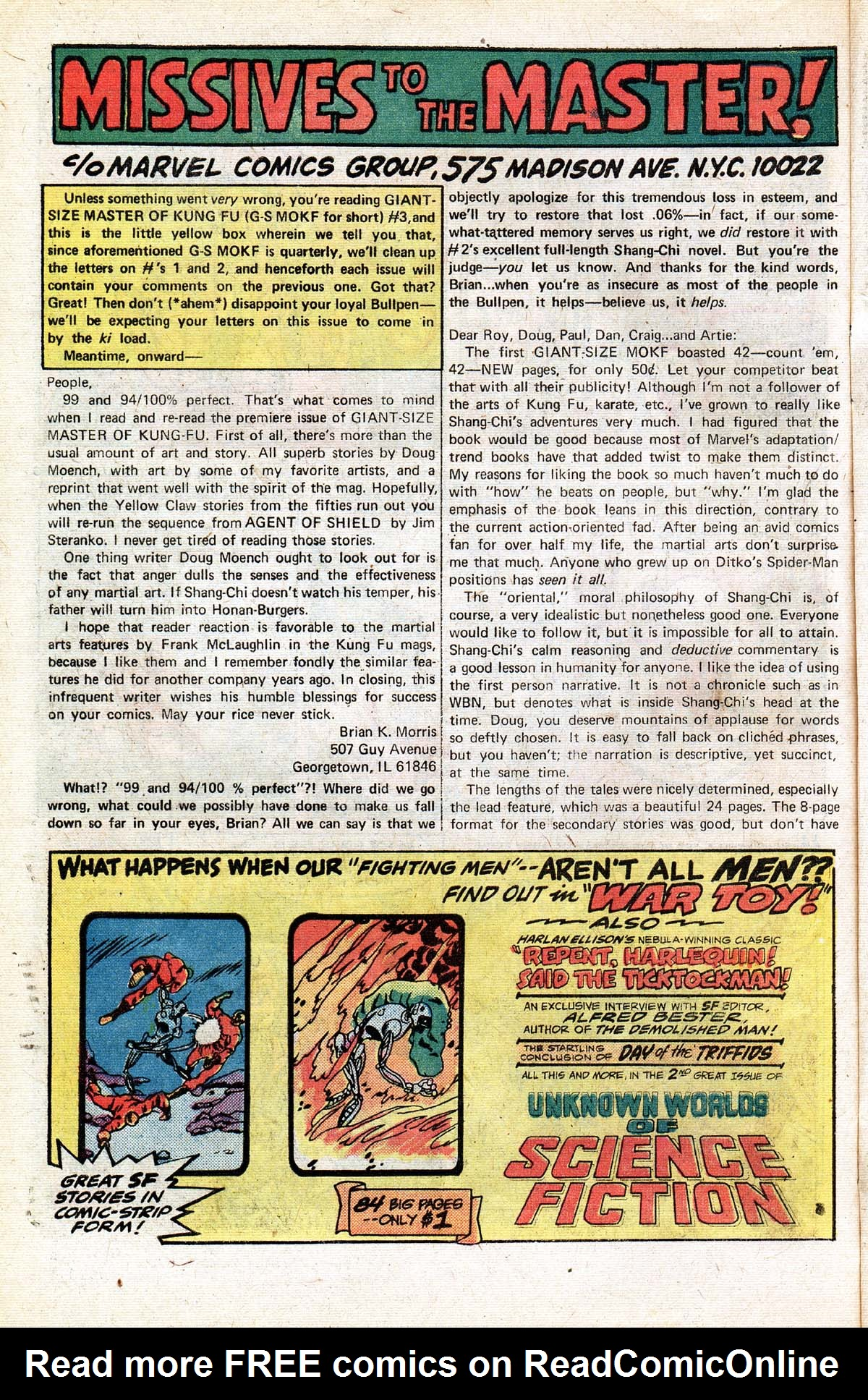 Read online Giant-Size Master of Kung Fu comic -  Issue #3 - 43
