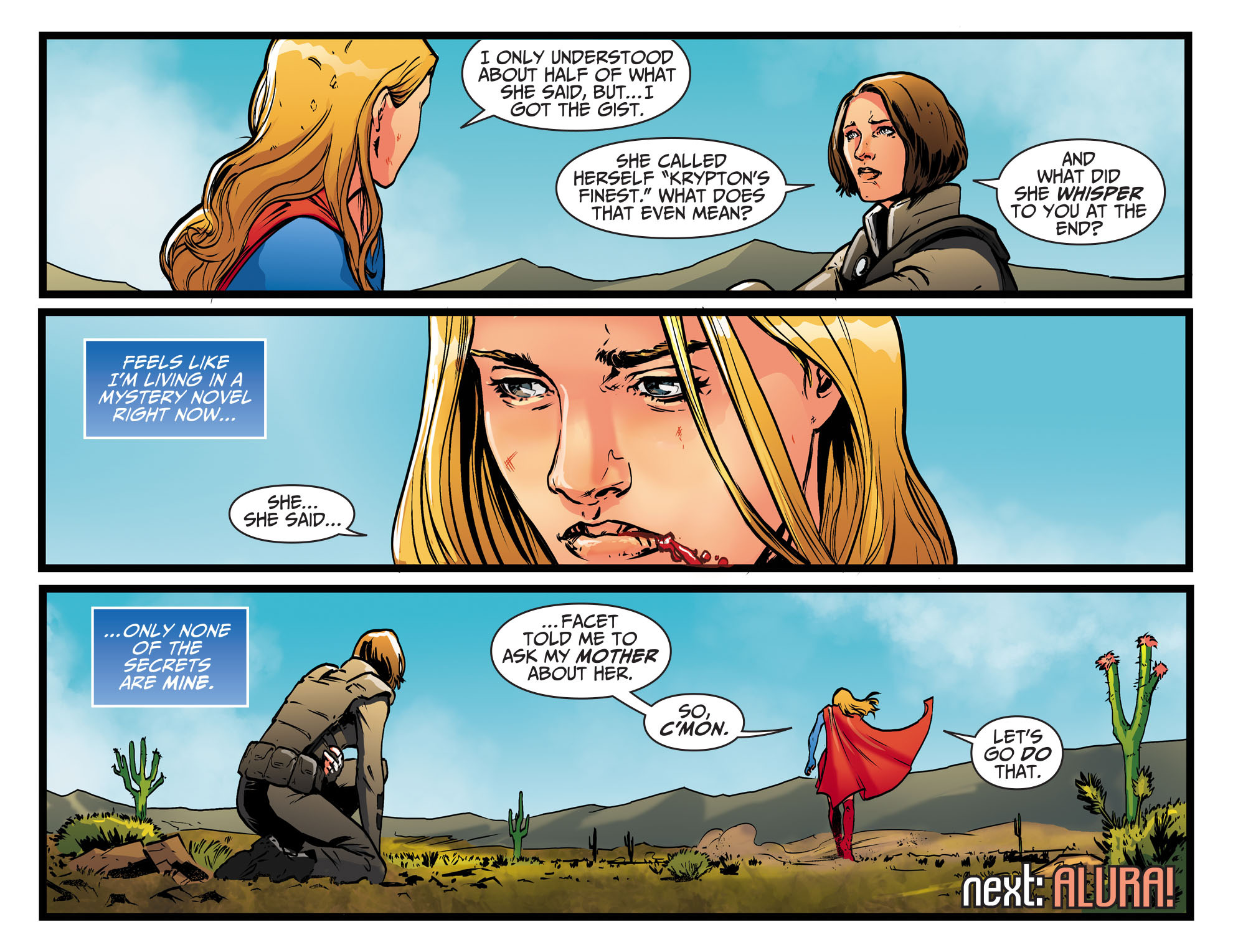 Read online Adventures of Supergirl comic -  Issue #9 - 22