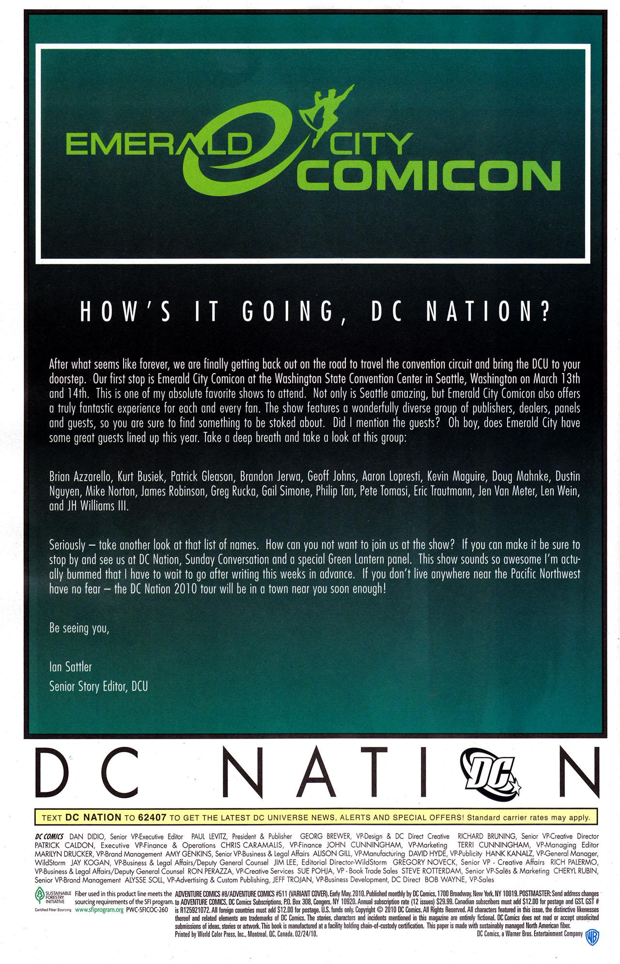 Read online Adventure Comics (2009) comic -  Issue #8 - 29
