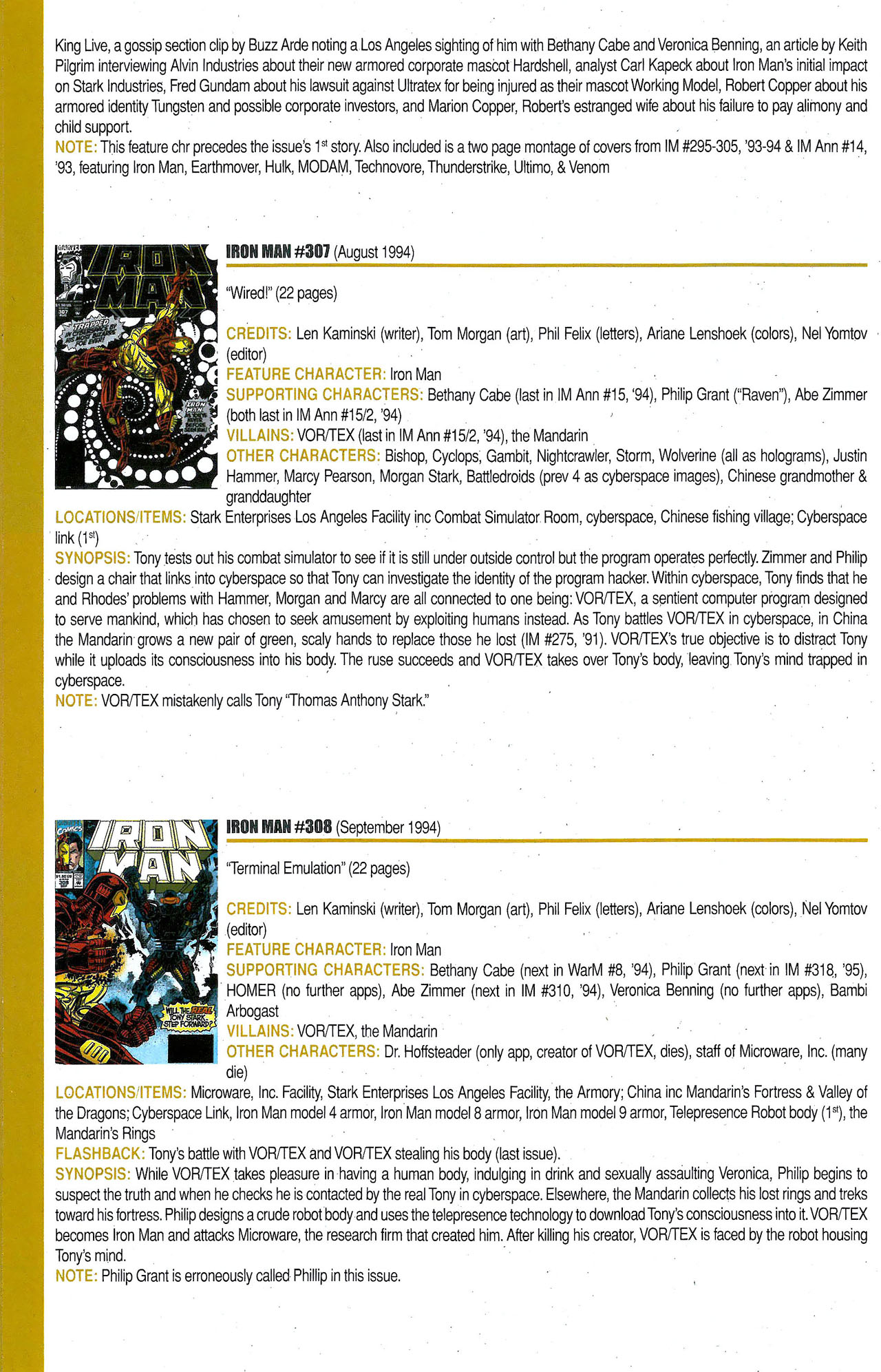 Read online Official Index to the Marvel Universe comic -  Issue #9 - 28