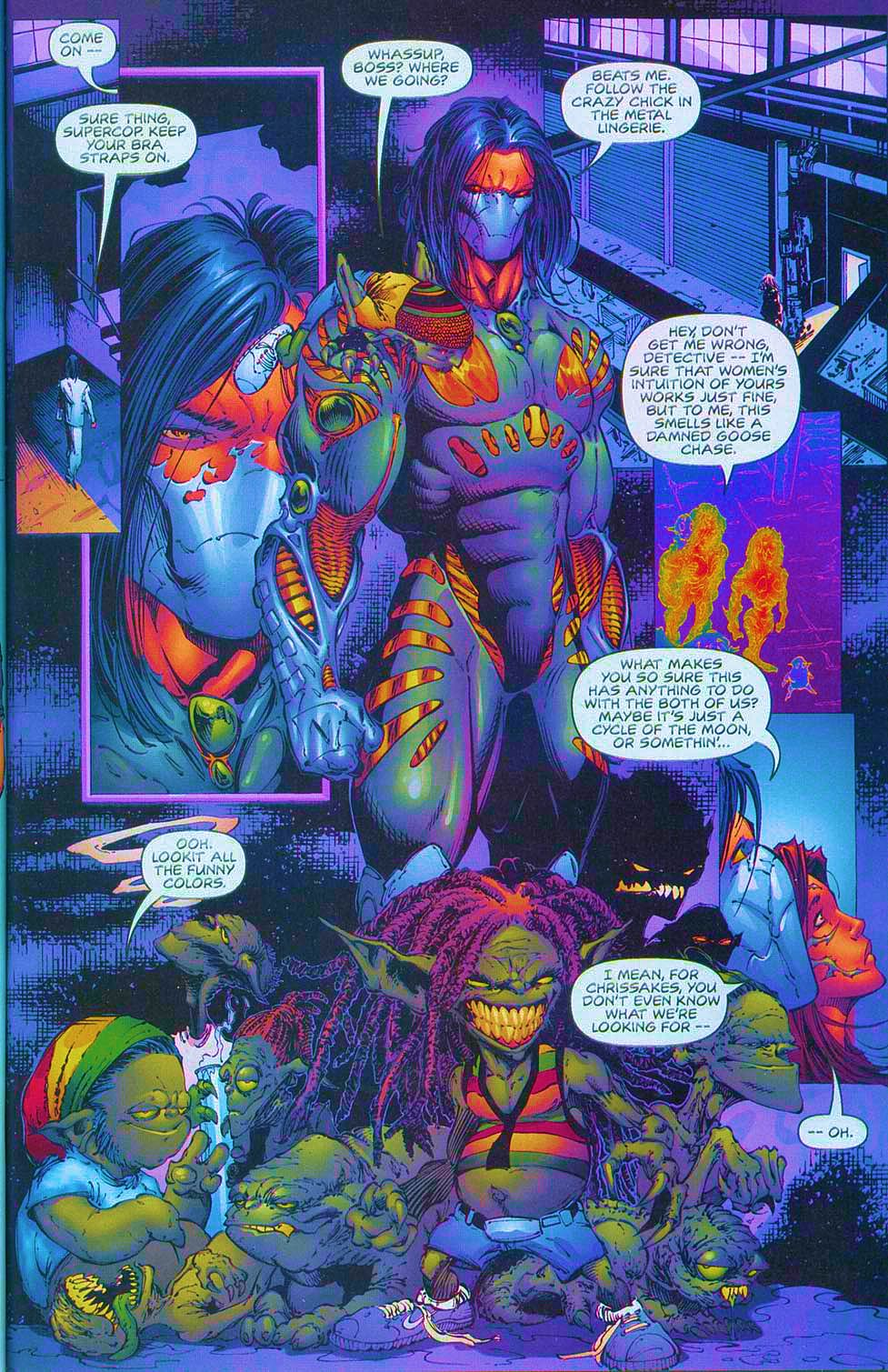 Read online Overkill: Witchblade/Aliens/Darkness/Predator comic -  Issue #1 - 34
