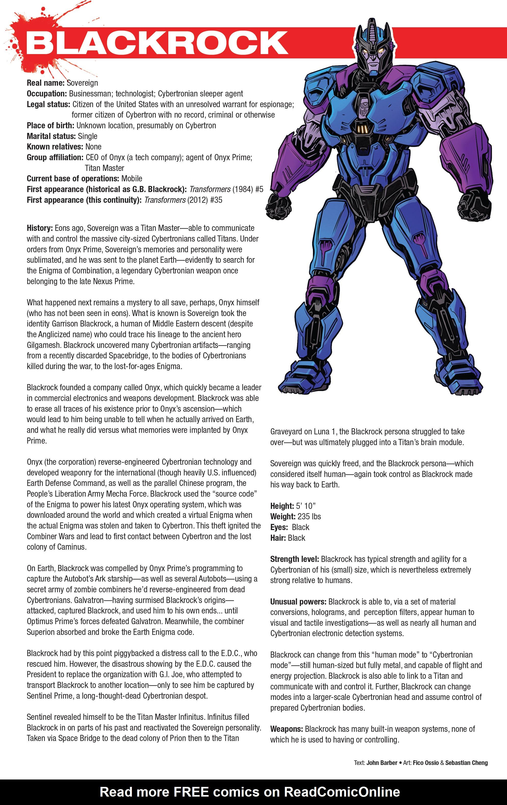 Read online Hasbro Heroes Sourcebook comic -  Issue #1 - 20
