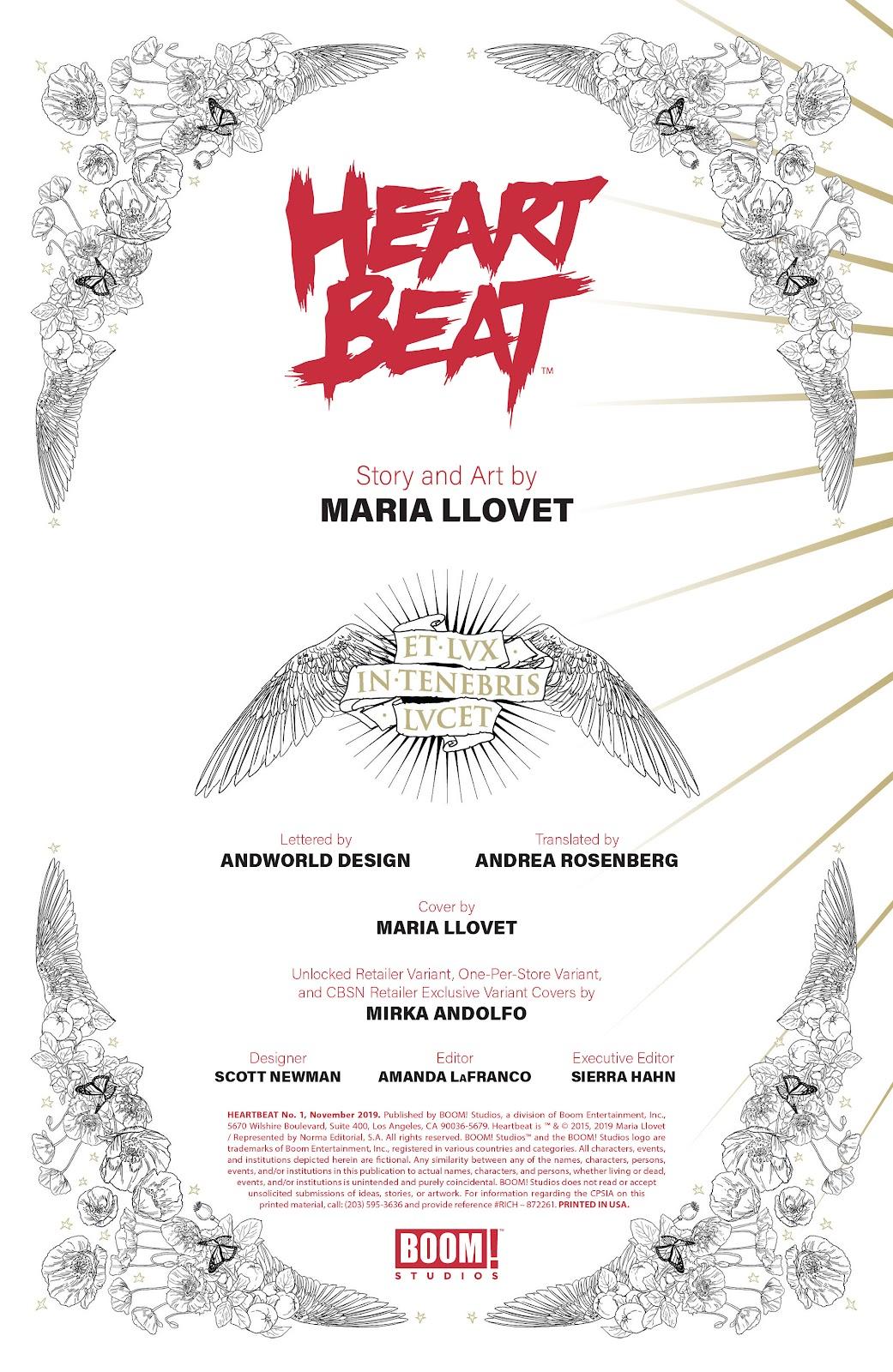 Read online Heartbeat comic -  Issue #1 - 2