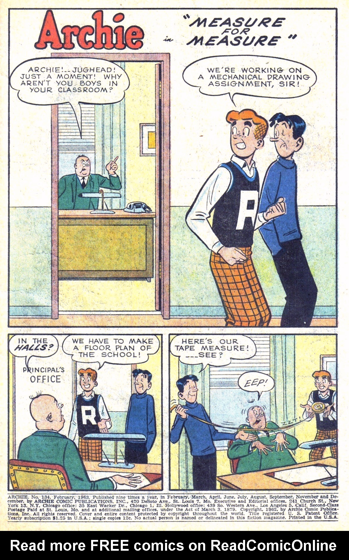 Read online Archie (1960) comic -  Issue #134 - 3