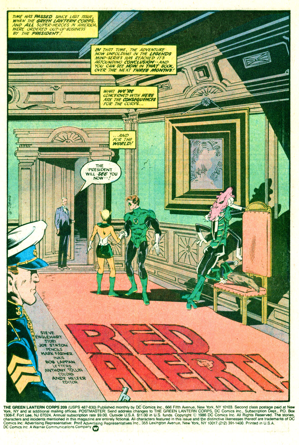 The Green Lantern Corps 209 Page 2