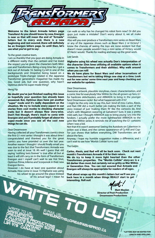 Read online Transformers Armada comic -  Issue #17 - 28