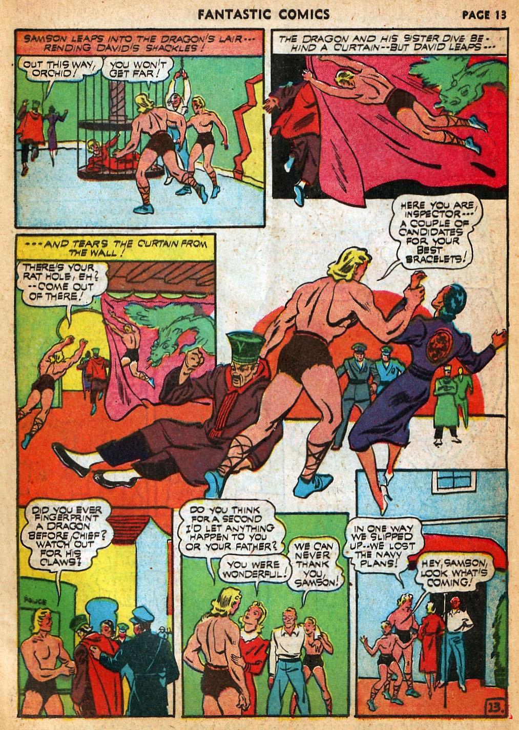 Read online Fantastic Comics comic -  Issue #22 - 15