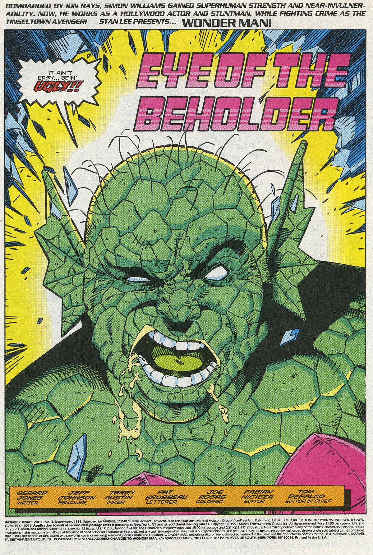 Read online Wonder Man (1991) comic -  Issue #3 - 2