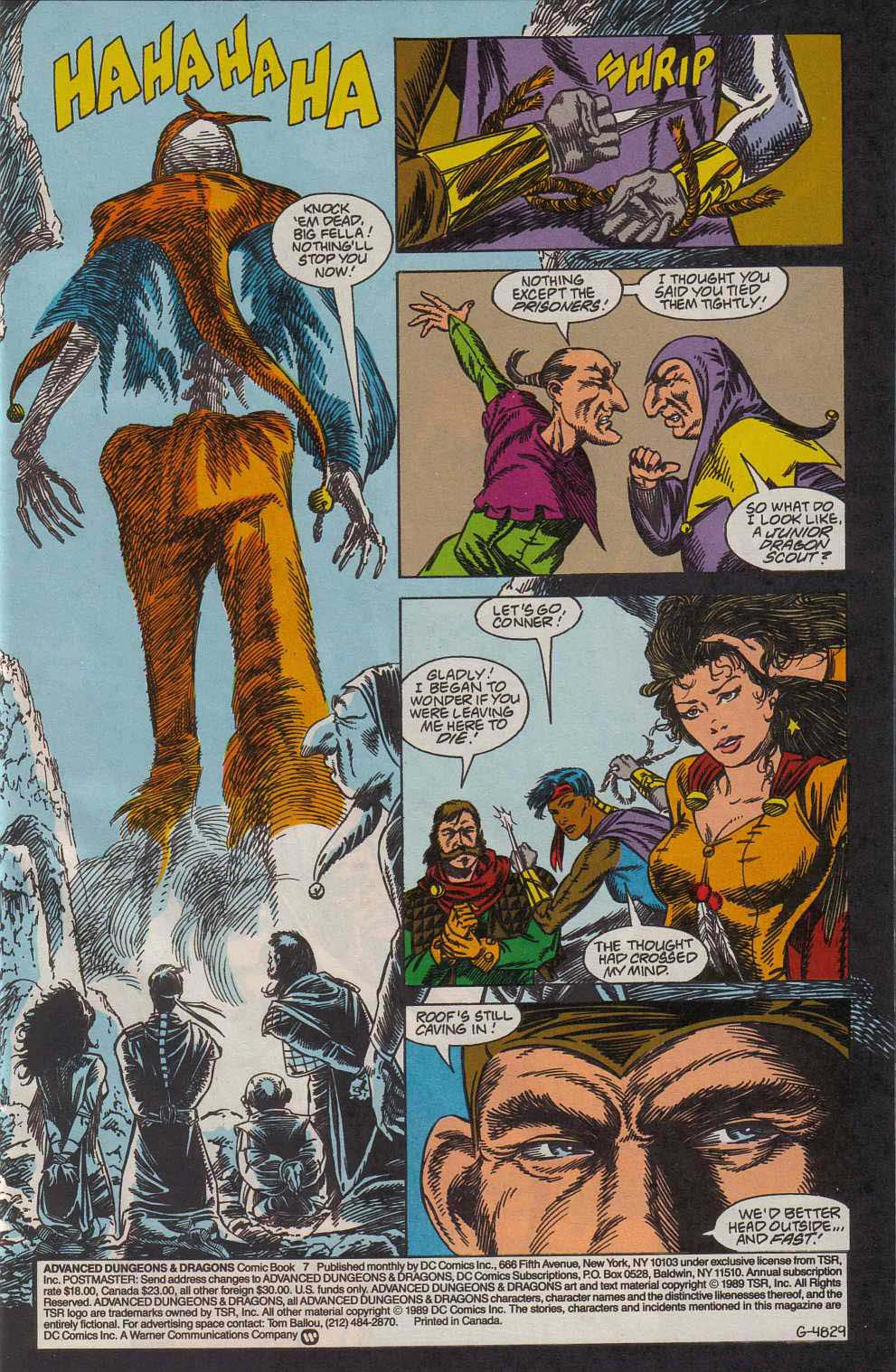 Read online Advanced Dungeons & Dragons comic -  Issue #7 - 2