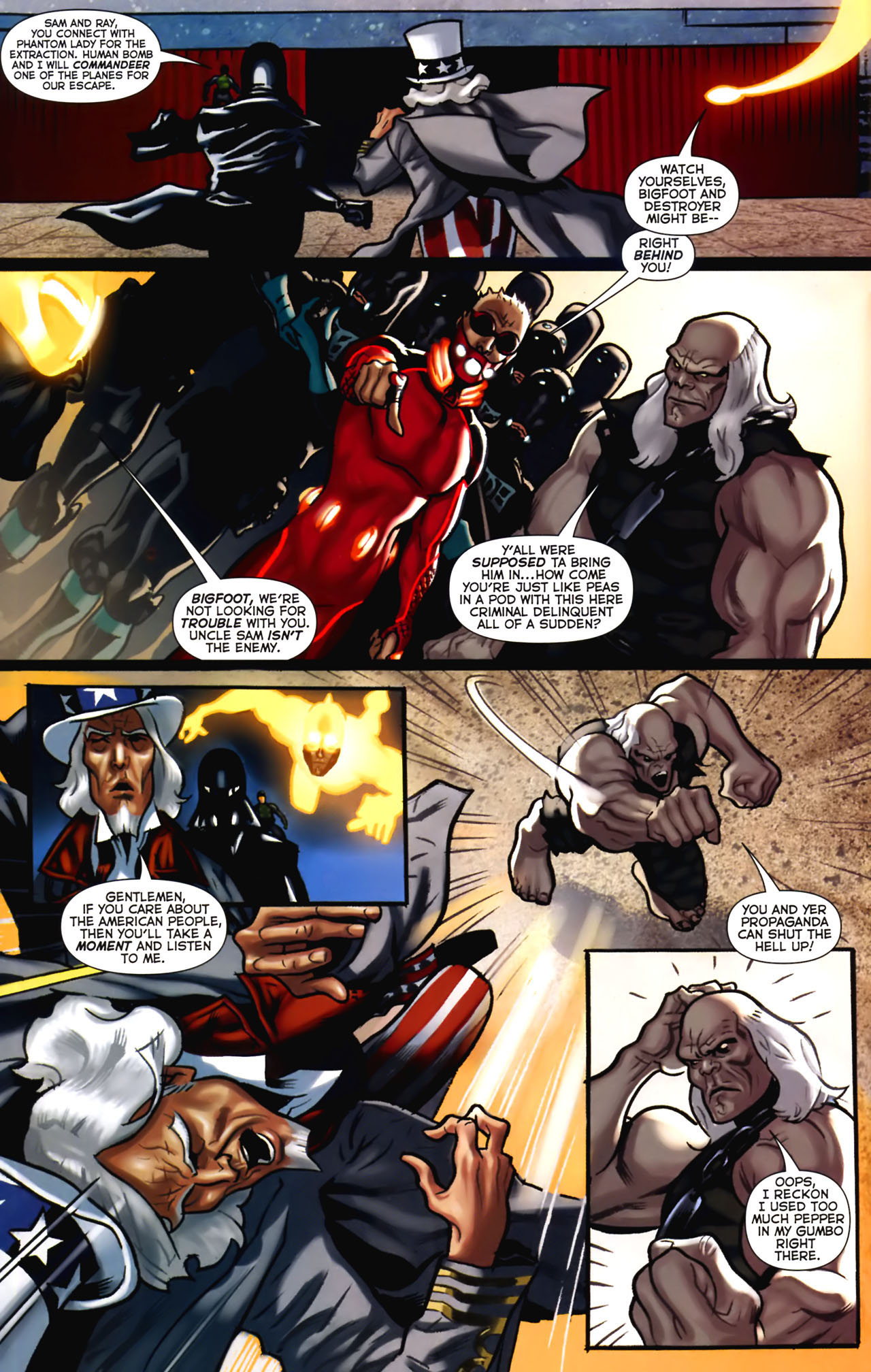 Read online Uncle Sam and the Freedom Fighters (2006) comic -  Issue #2 - 16