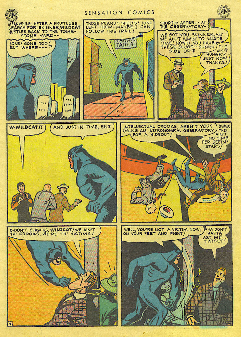 Read online Sensation (Mystery) Comics comic -  Issue #39 - 48